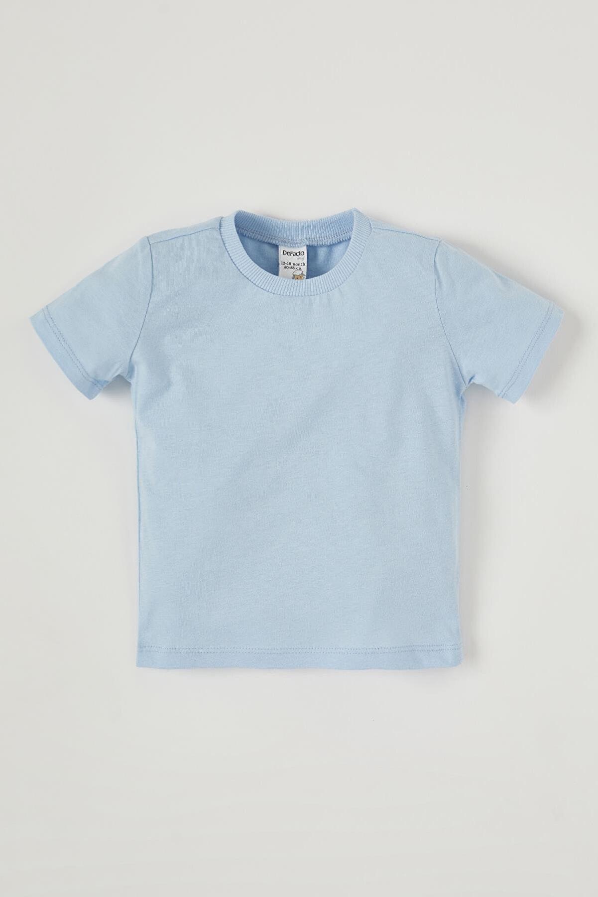 Defacto Unisex Bebek Basic Pamuklu Kısa Kollu Tişört