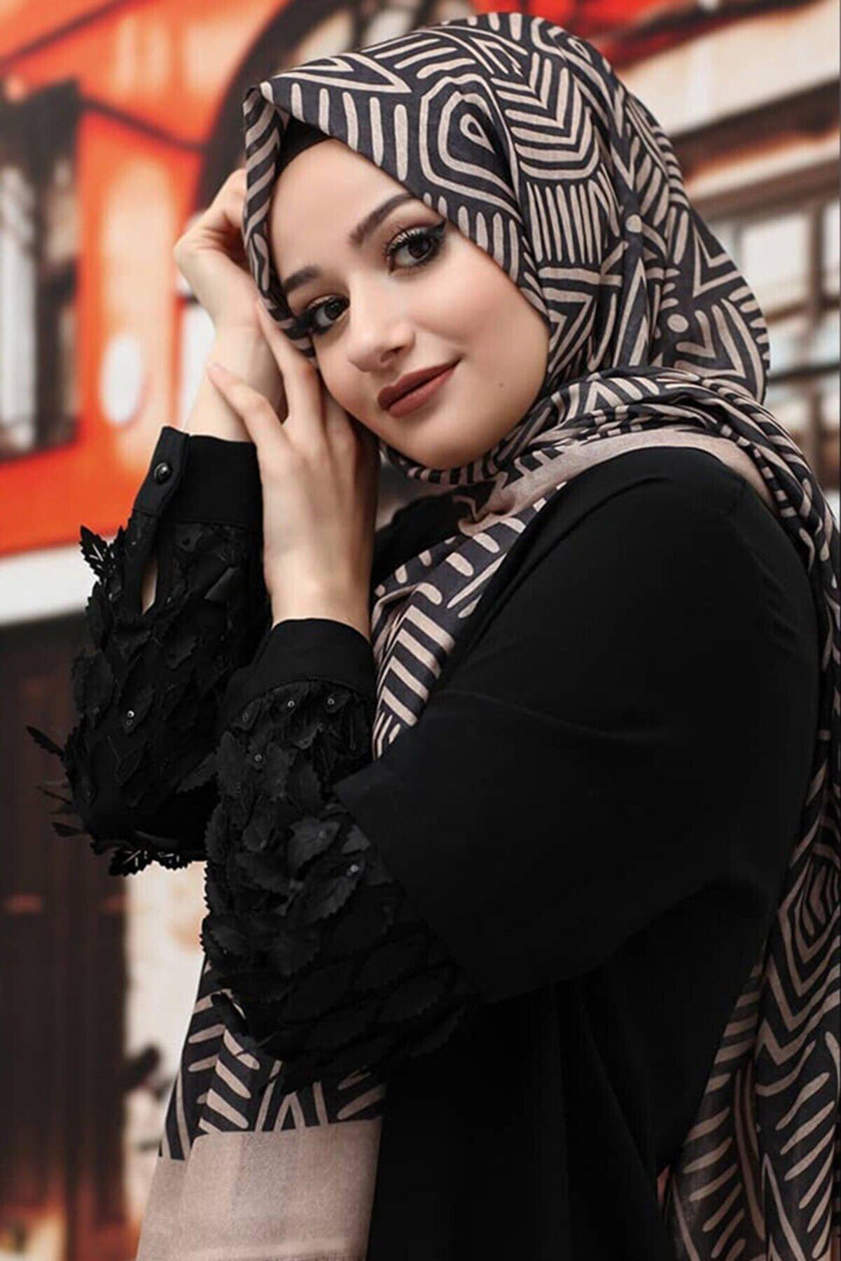 Moda Ebrar Kadın Desenli Pamuk Şal Tmeds-057