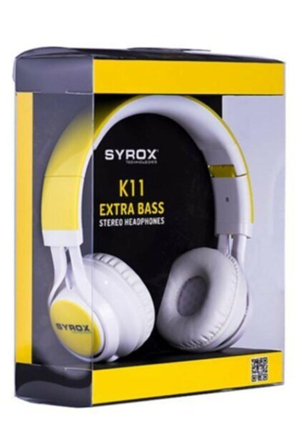 Syrox K11 Mikrofonlu Stereo Kulak Üstü Kulaklık