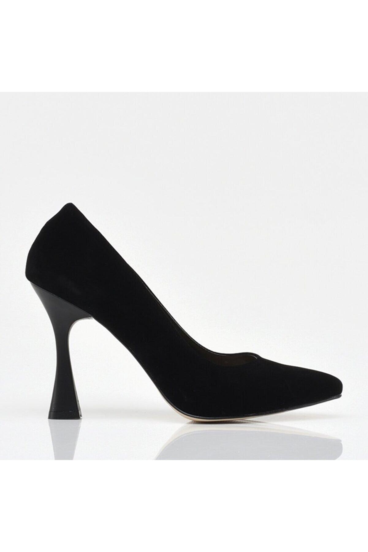 Hotiç Siyah Yaya Kadın Topuklu Ayakkabı