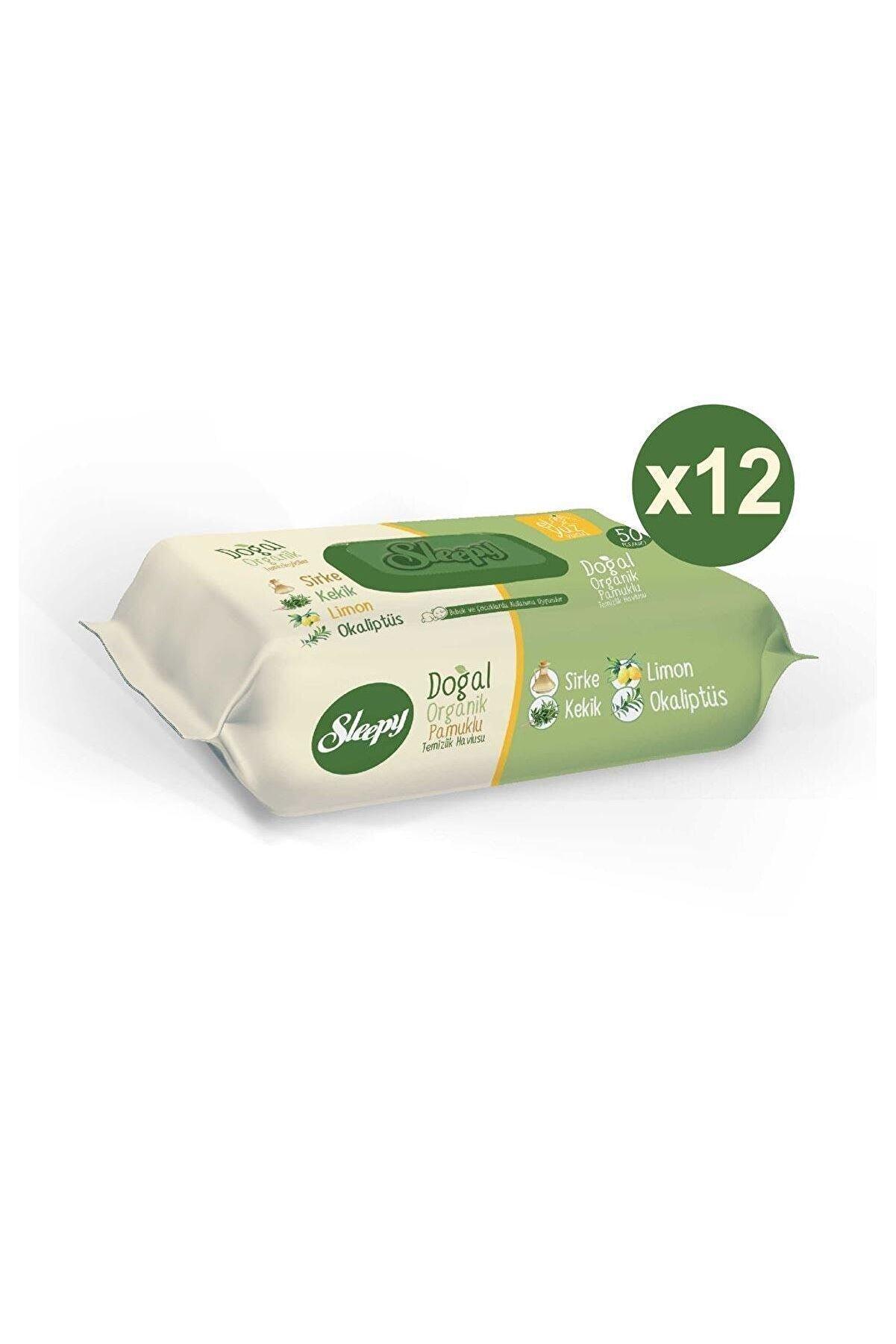 Sleepy Doğal Organik Pamuklu Temizlik Havlusu 12X50