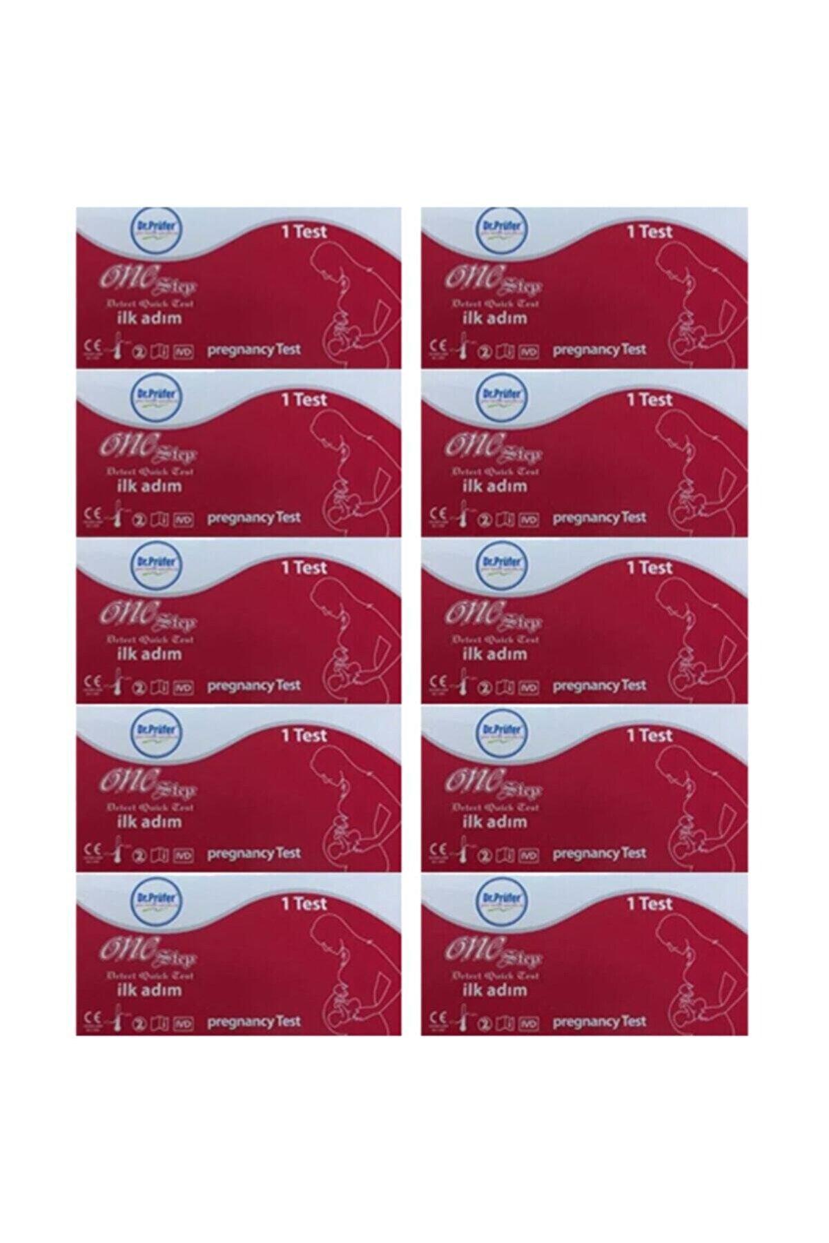 Dr.Prüfer Hızlı Gebelik Testi Kaset Test X 10 Adet (Hamilelik Testi)
