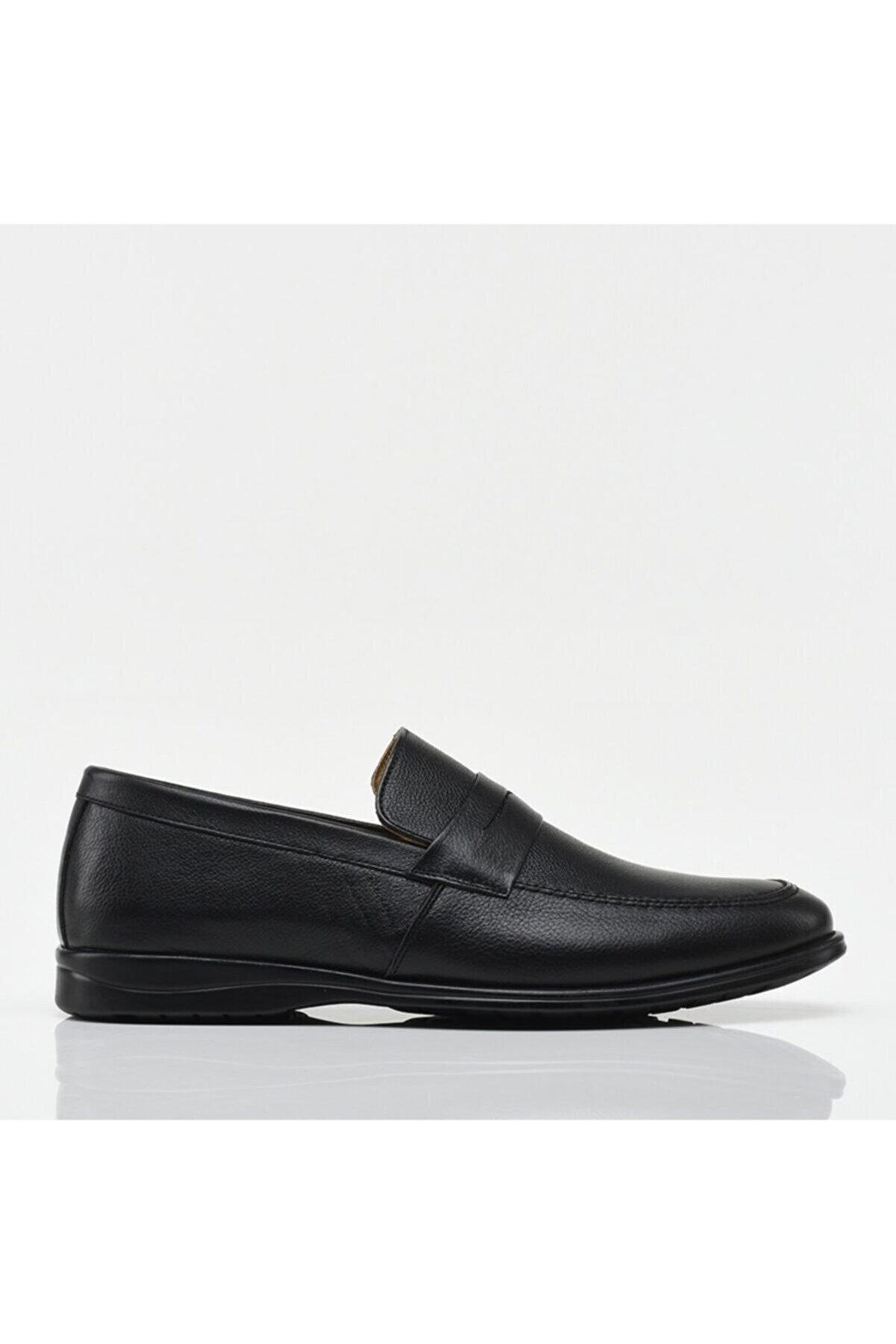 Hotiç Erkek Siyah Hakiki Deri Loafer Ayakkabı