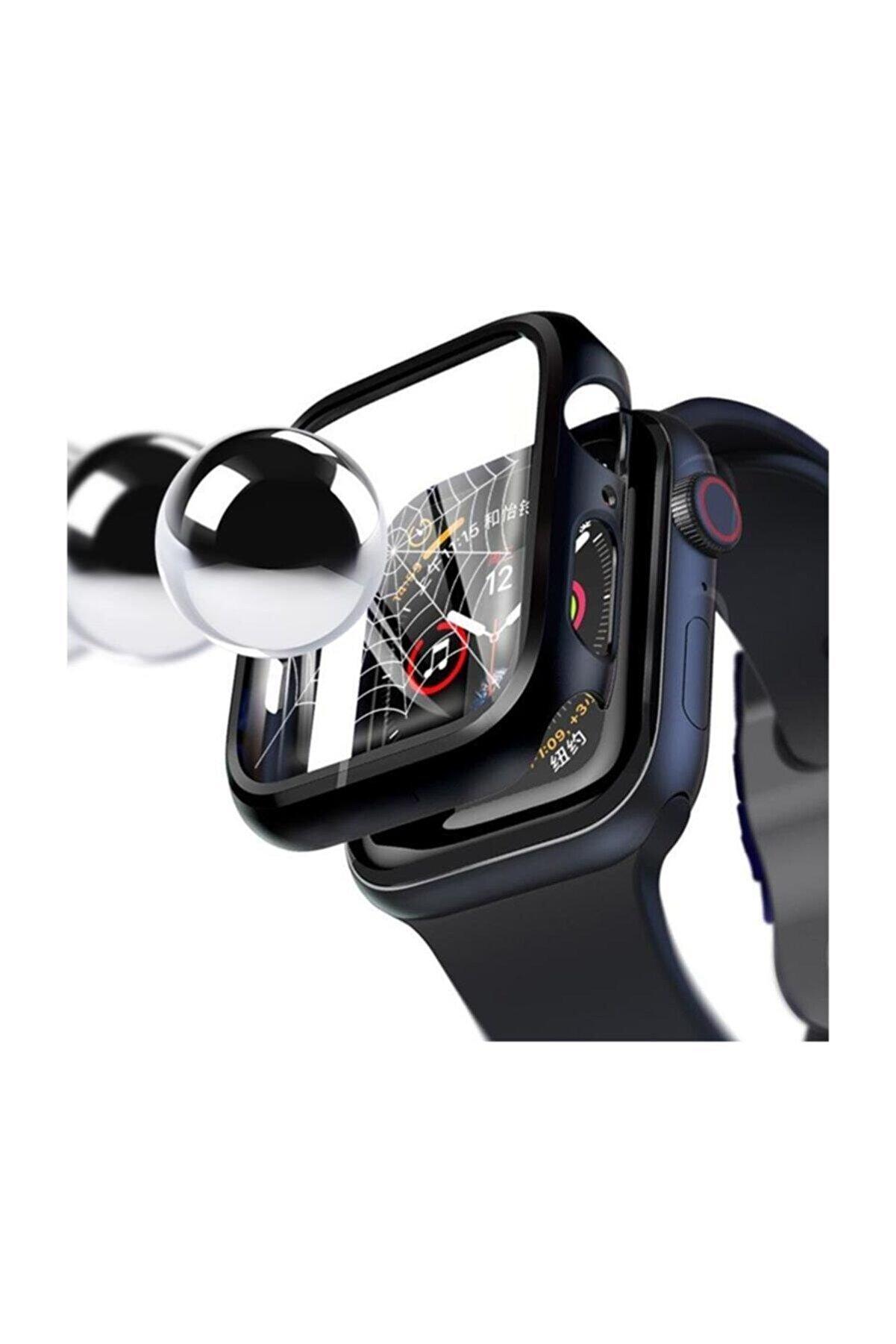 Dijimedia (Apple Watch Series 4-5 44mm 360 Derece Koruma+Kırılmaz Cam