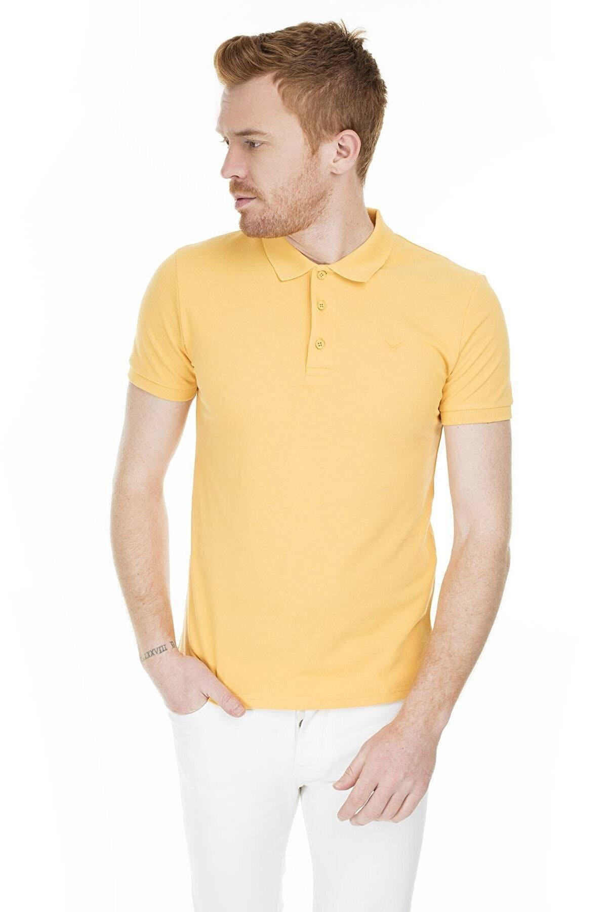 Cazador Caz 4613 Erkek Sarı  Polo T-shırt