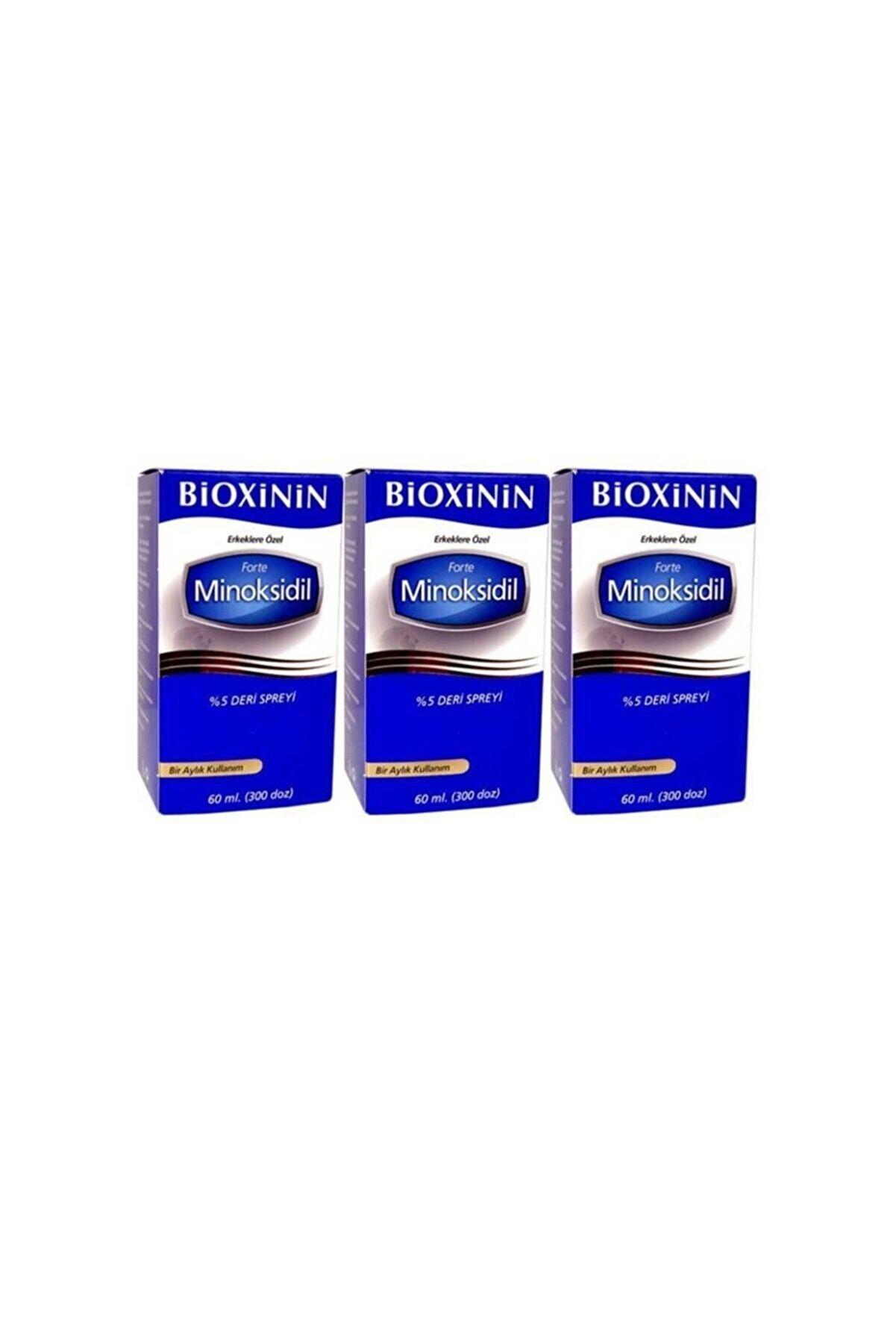 Bioxcin Bioxinin Forte Minoksidil %5 Deri Spreyi 60 ml - 3 Adet