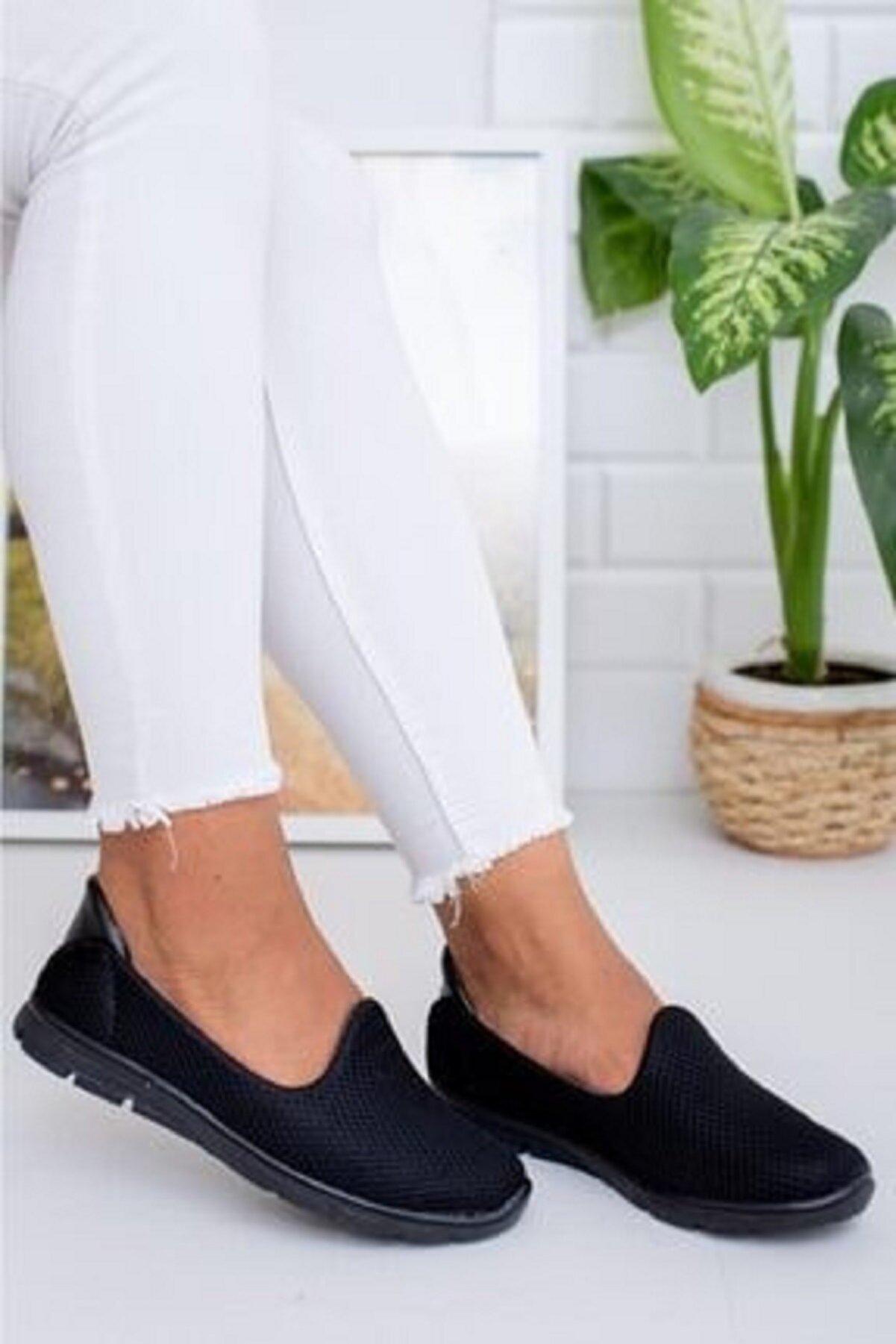 Beyond  Kadın Siyah Memory Foam Ortopedik Rahat Taban Spor Babet Ayakkabı