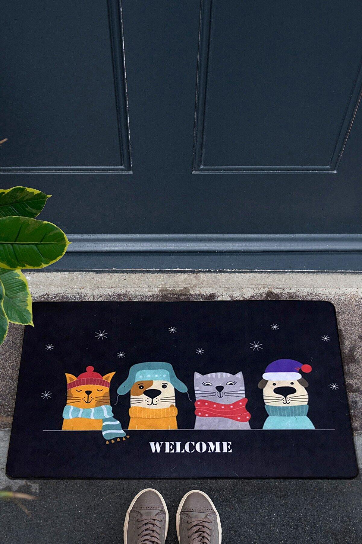 Chilai Home Cute Dekoratif Iç Ve Dış Kapıönü Paspasları Pvc Taban