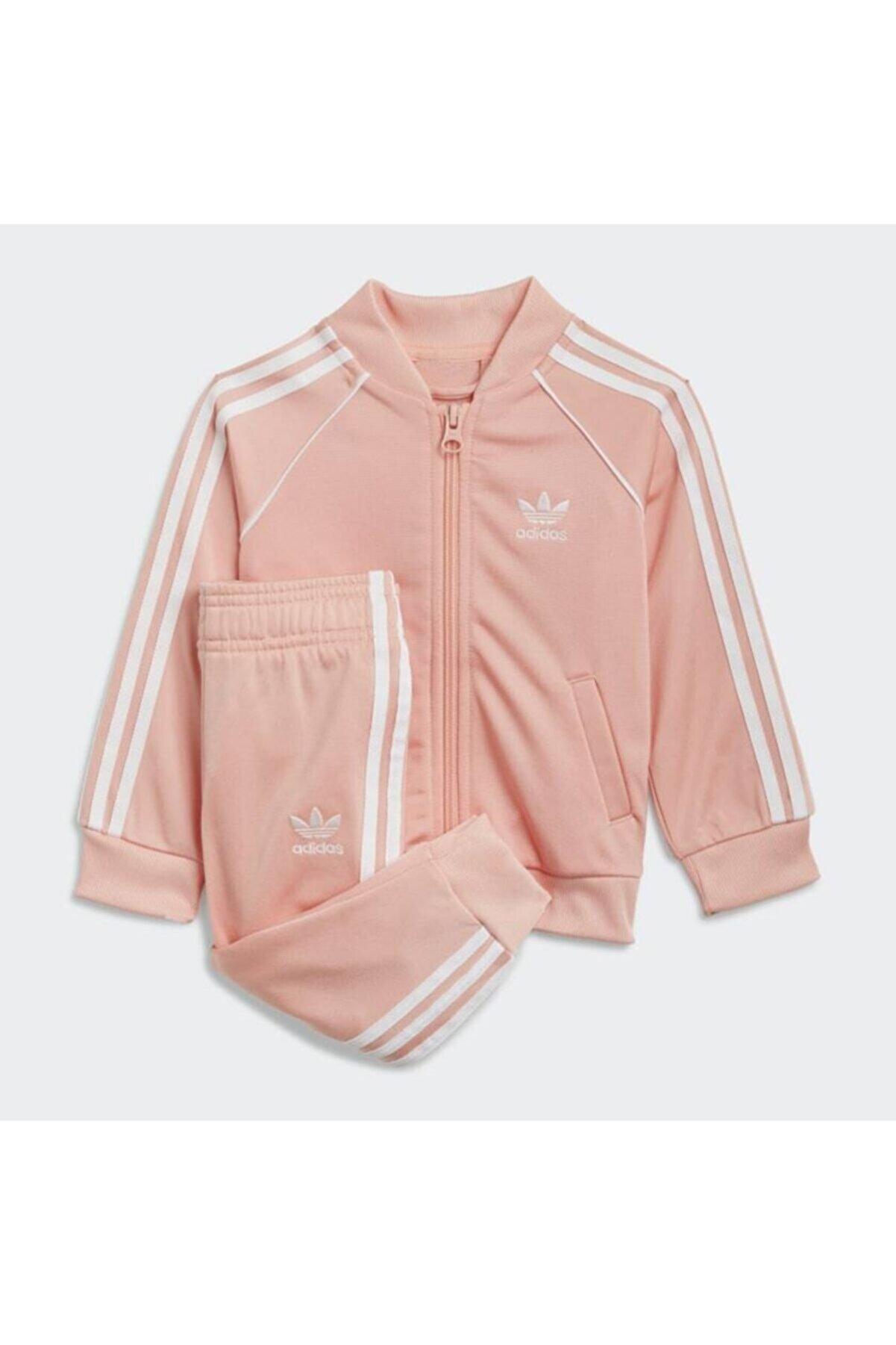 adidas Kız Çocuk Beyaz Adicolor Sst Eşofman Takımı