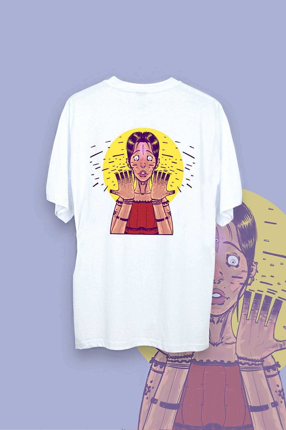 Rafolden Unisex Beyaz Obsession Tshirt