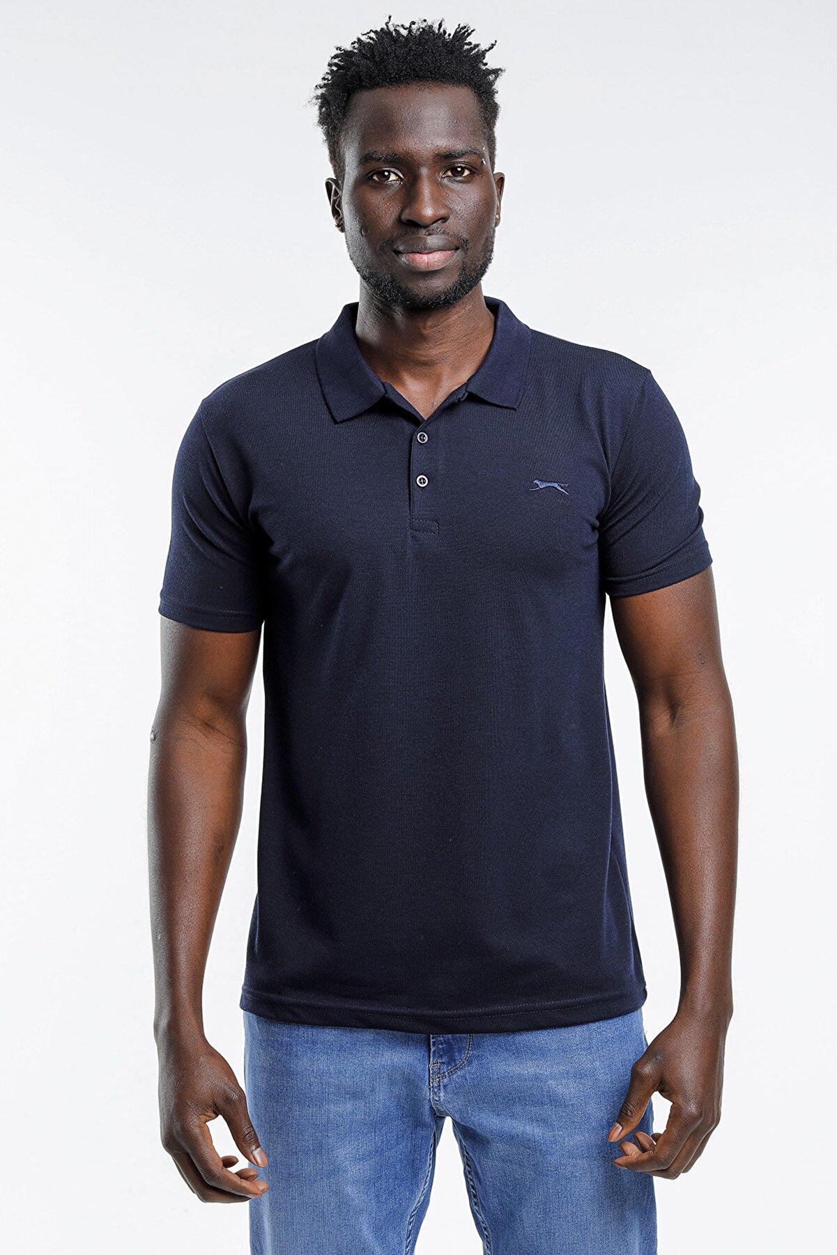 Slazenger Erkek  Lacivert T-shirt St11te130