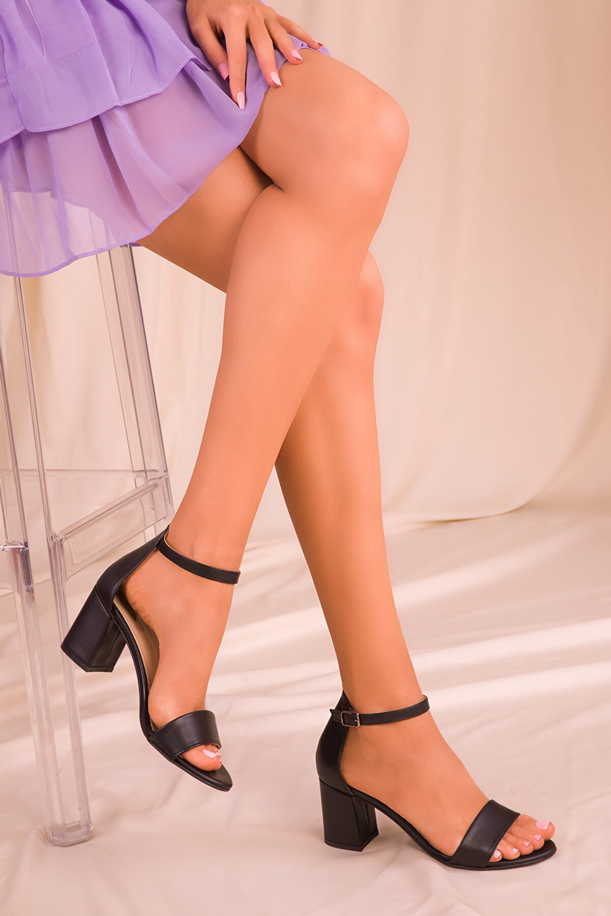 Soho Exclusive Siyah Kadın Klasik Topuklu Ayakkabı 16028