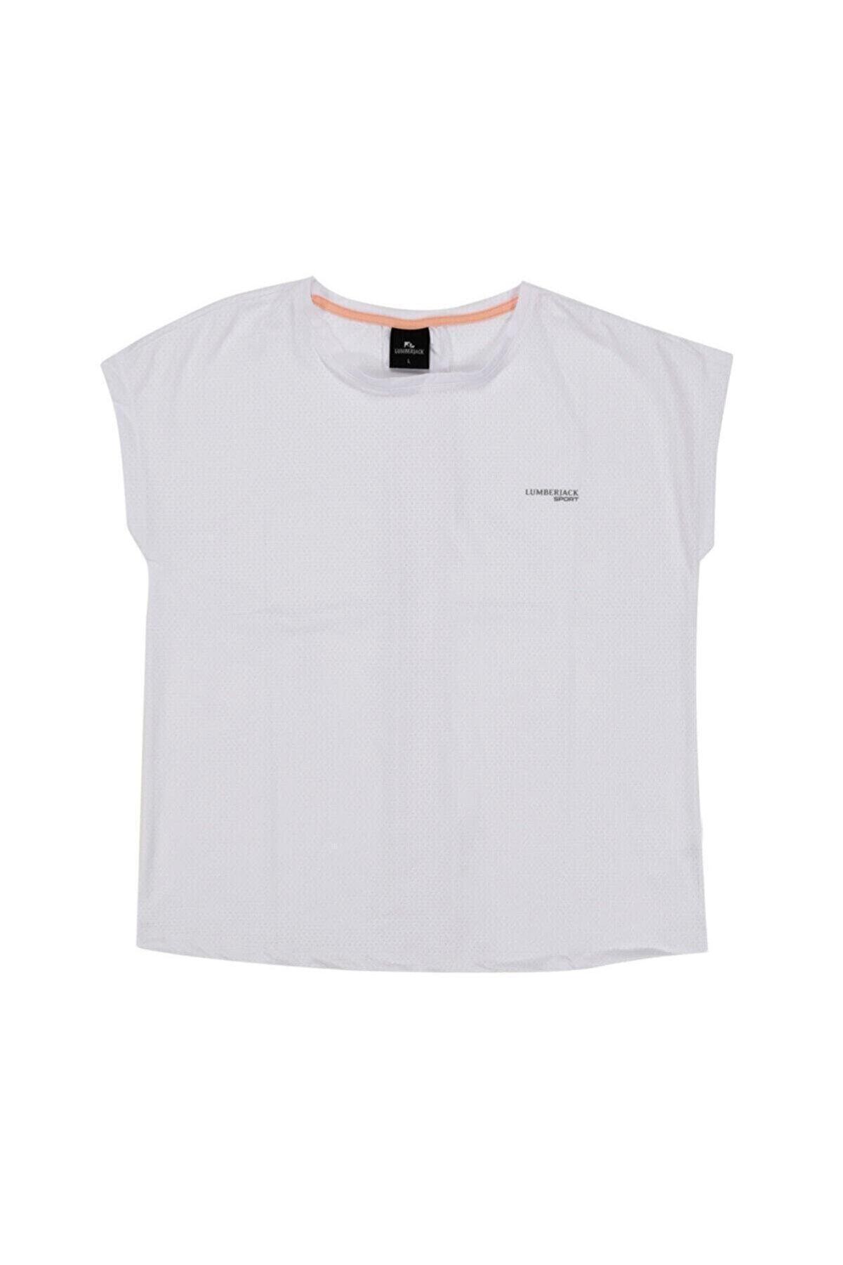 Lumberjack W-1827 TYBALT KK TSHIRT Beyaz Kadın T-Shirt 100512769