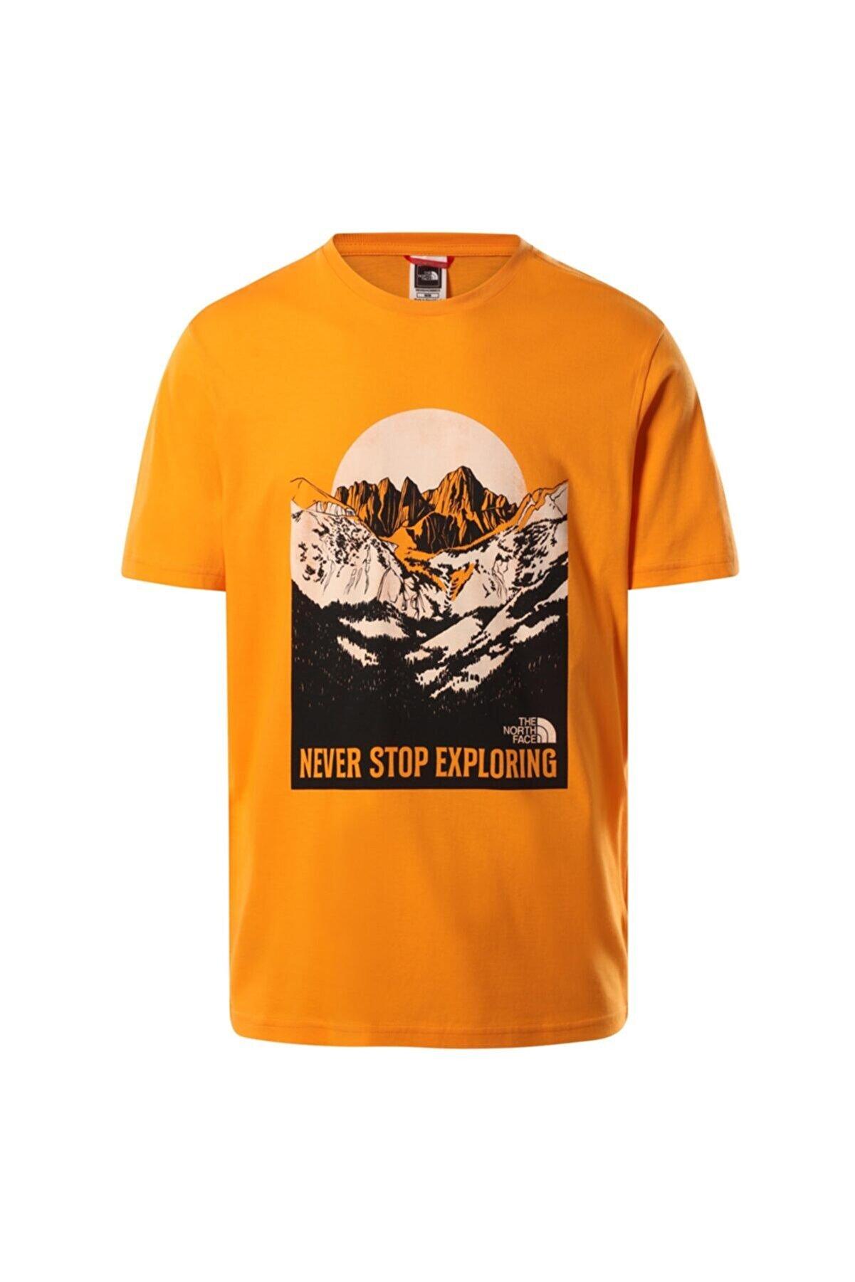The North Face Erkek Turuncu Natural Wonders Tee Nf0a4t1gpkh1