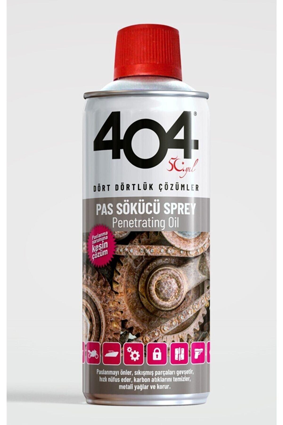 404 Kimya 404 Pas Sökücü 40+ Koruyucu Yağlayıcı Sprey 400 ml