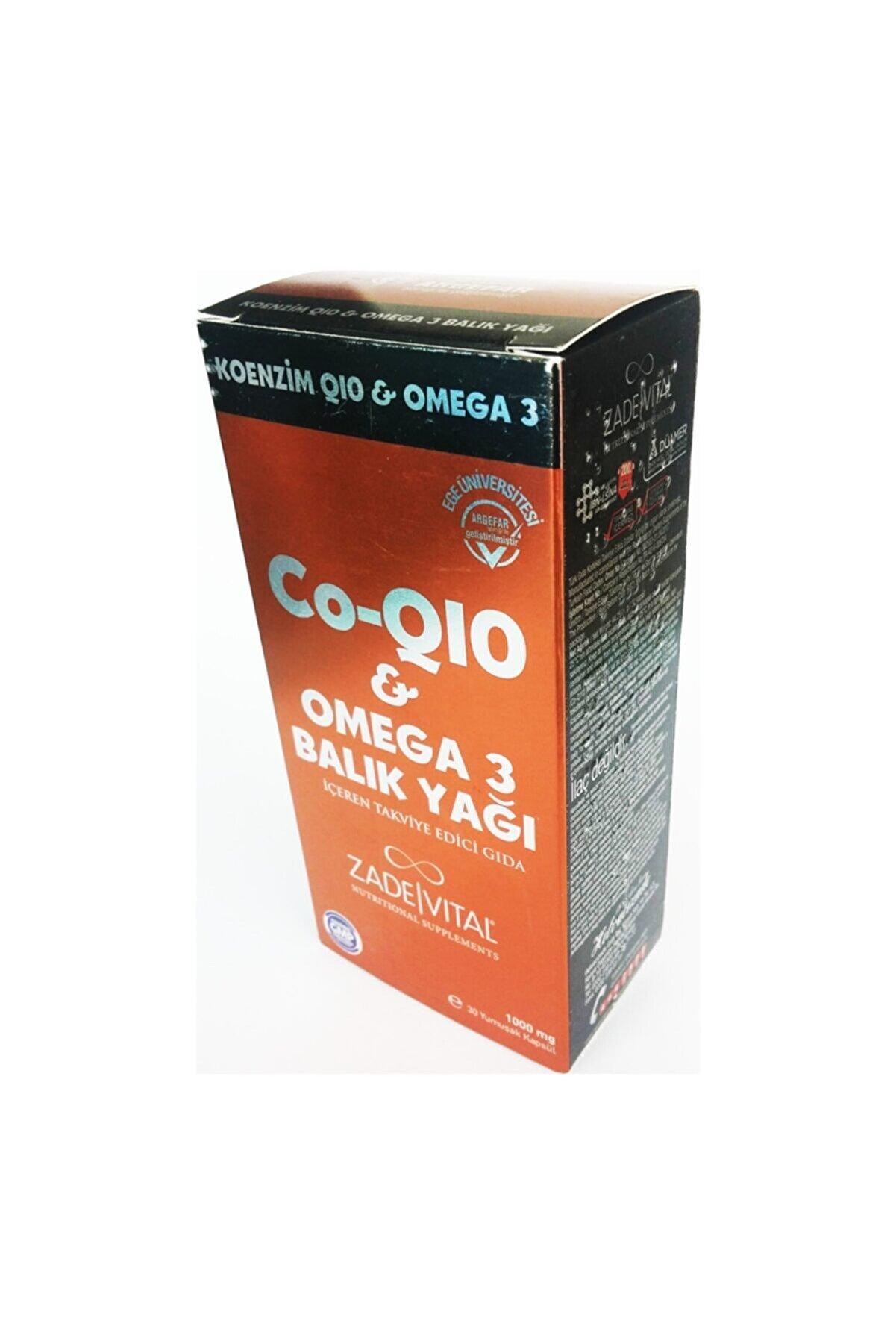 Zade Vital Co-q10 Omega 3 Balık Yağı Blister 30 Kapsül