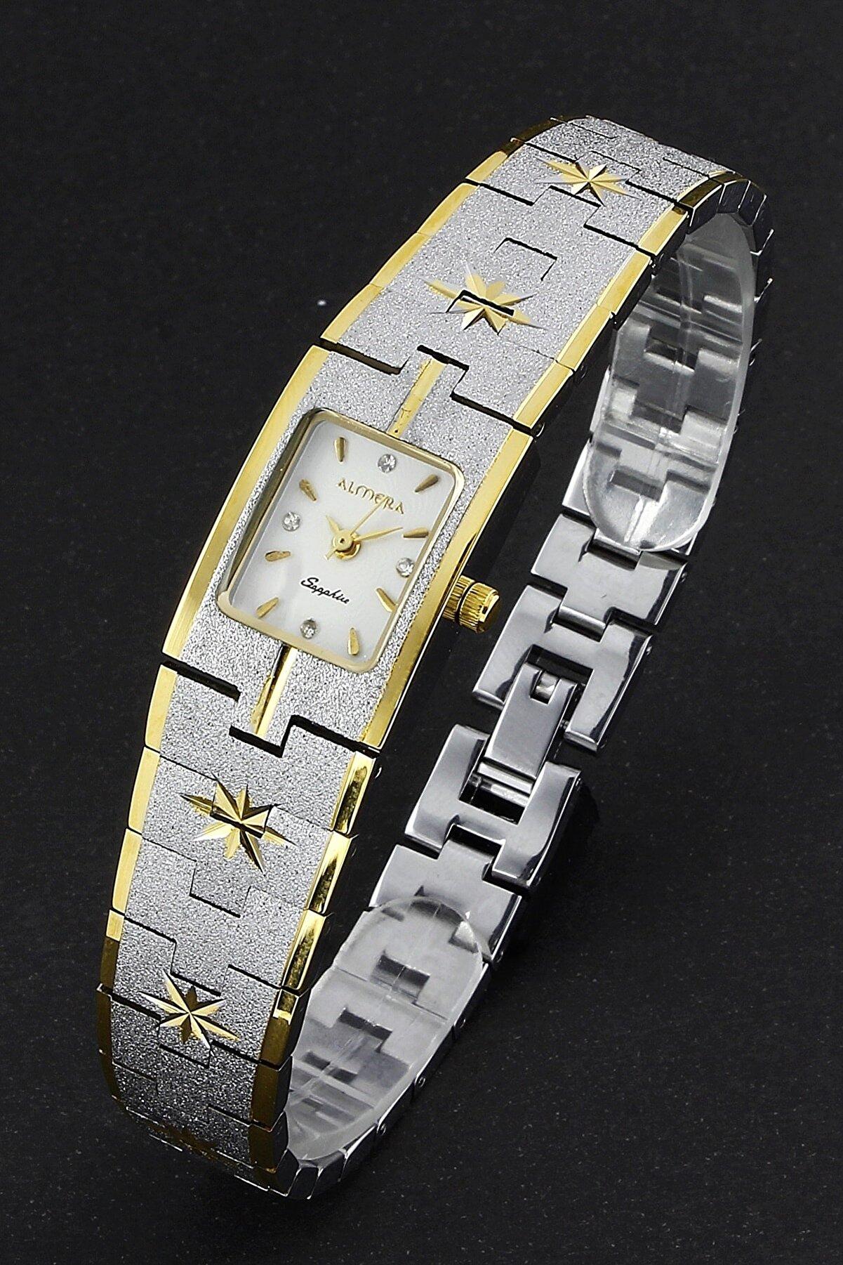 Almera Sapphire Vintage Retro Yıldız Işlemeli Kordon Kadın Kol Saati