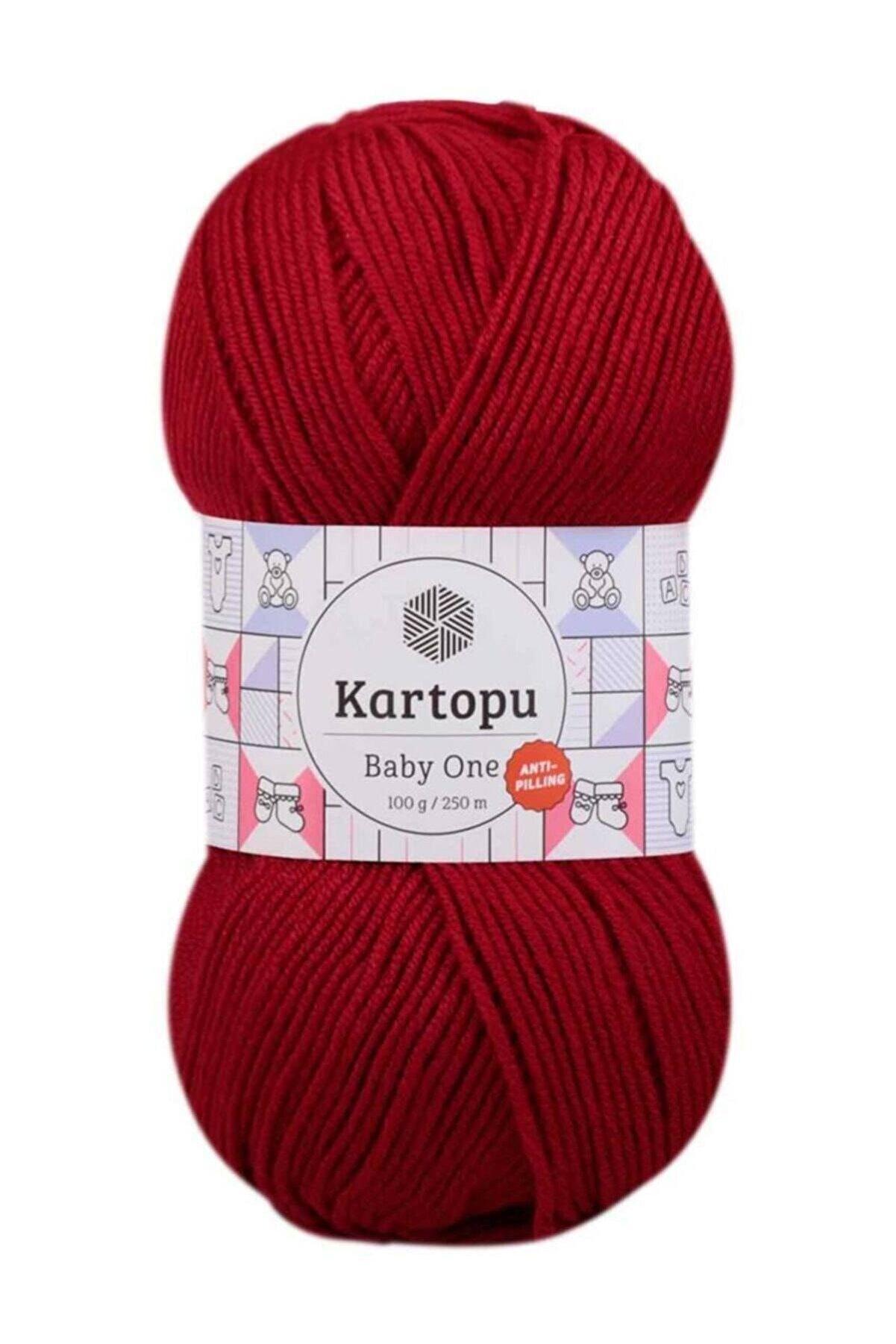Kartopu Baby One Anti-pilling Örgü Ipi K129 Kırmızı