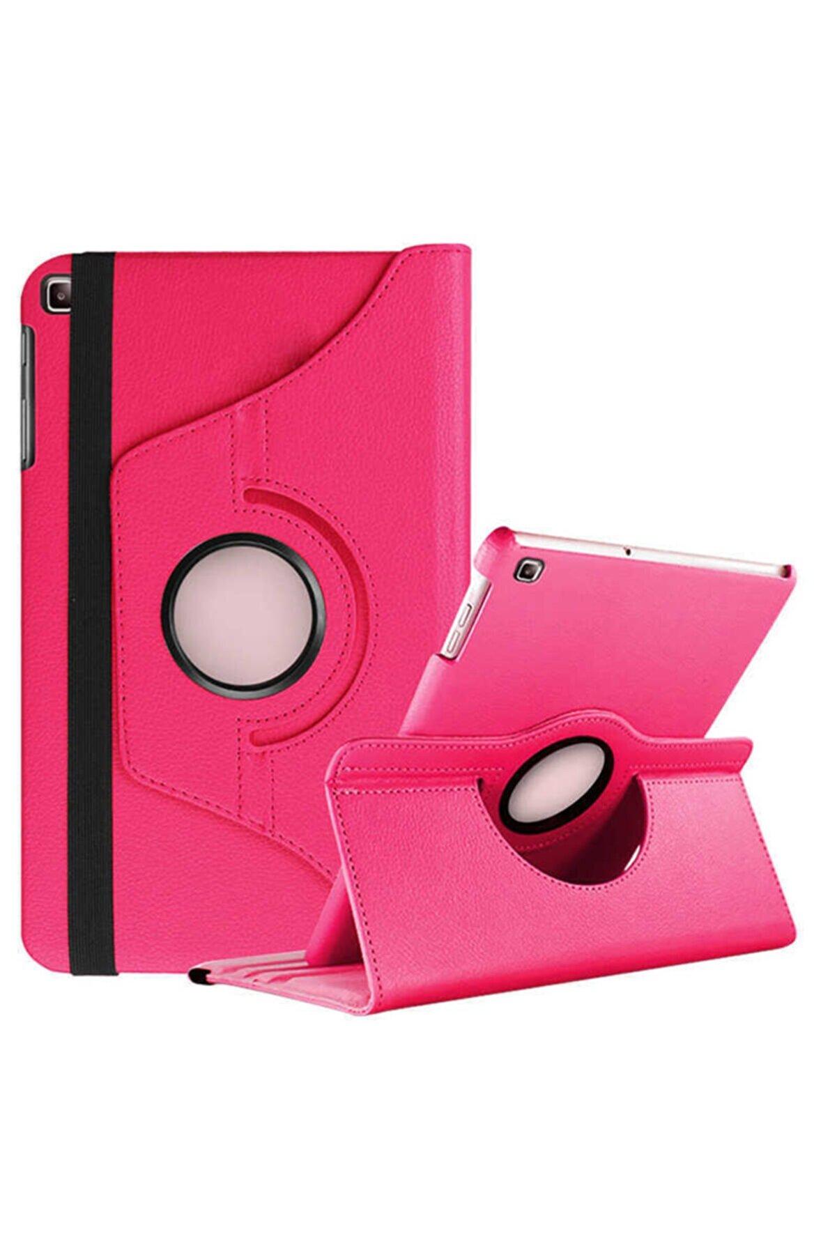 SrcTeknoloji Lenova Tab M10 Plus Uyumlu 360 Dönebilen Standlı Tablet Pembe Kılıf