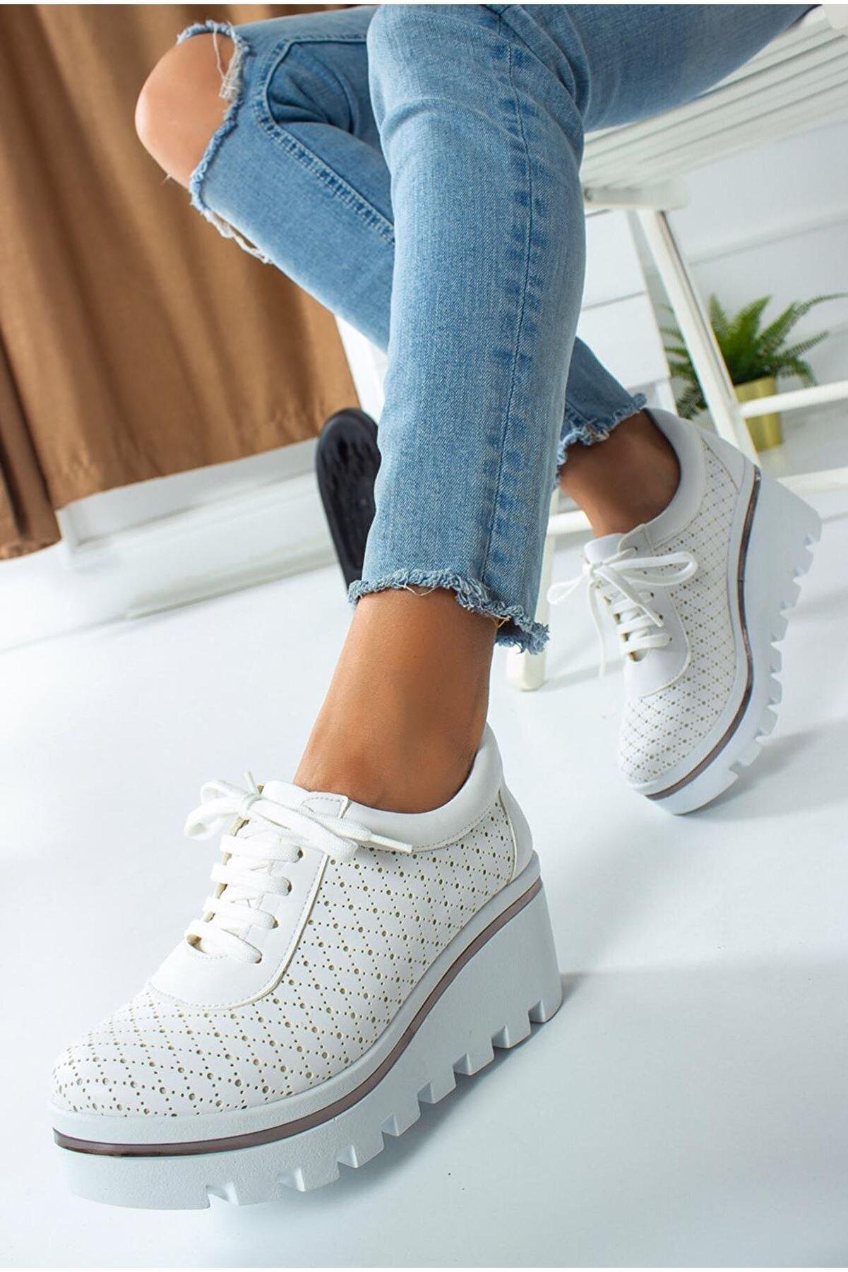 DOCKA Kadın Dolgu Topuk Spor Tarz Ayakkabı