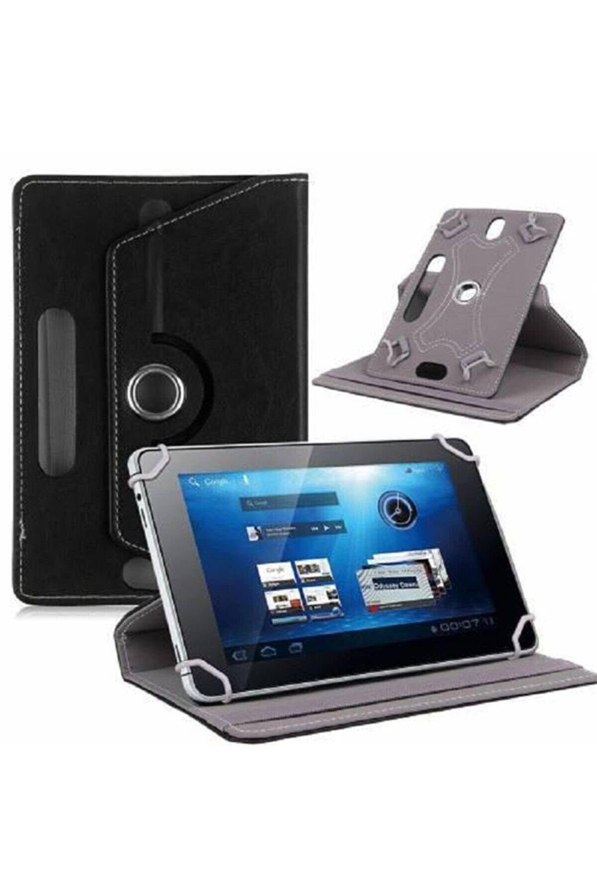 SİRİUS Vorcom Sx Pro 10.1'' Uyumlu Üniversal Dönerli Satandlı Siyah Renk Tablet Kılıfı