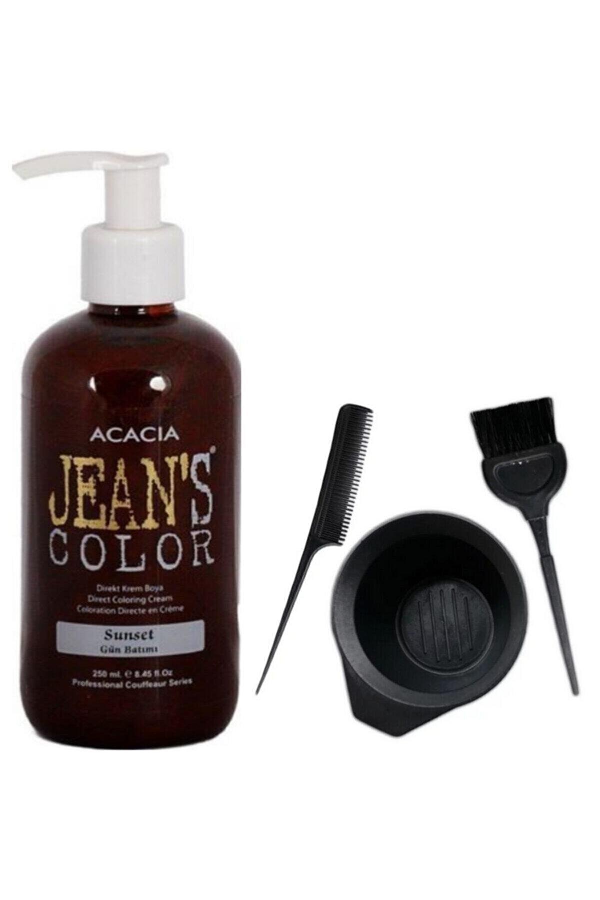 Acacia Jeans Color Saç Boyası Gün Batımı 250 Ml Ve Fluweel Saç Boya Kabı Seti