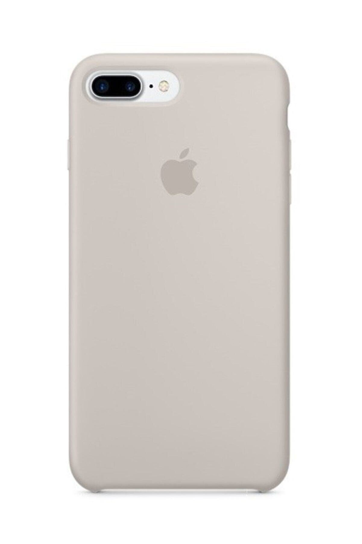 Telefon Aksesuarları Iphone 7 Plus 8 Plus Silikon Taş Rengi Kılıf