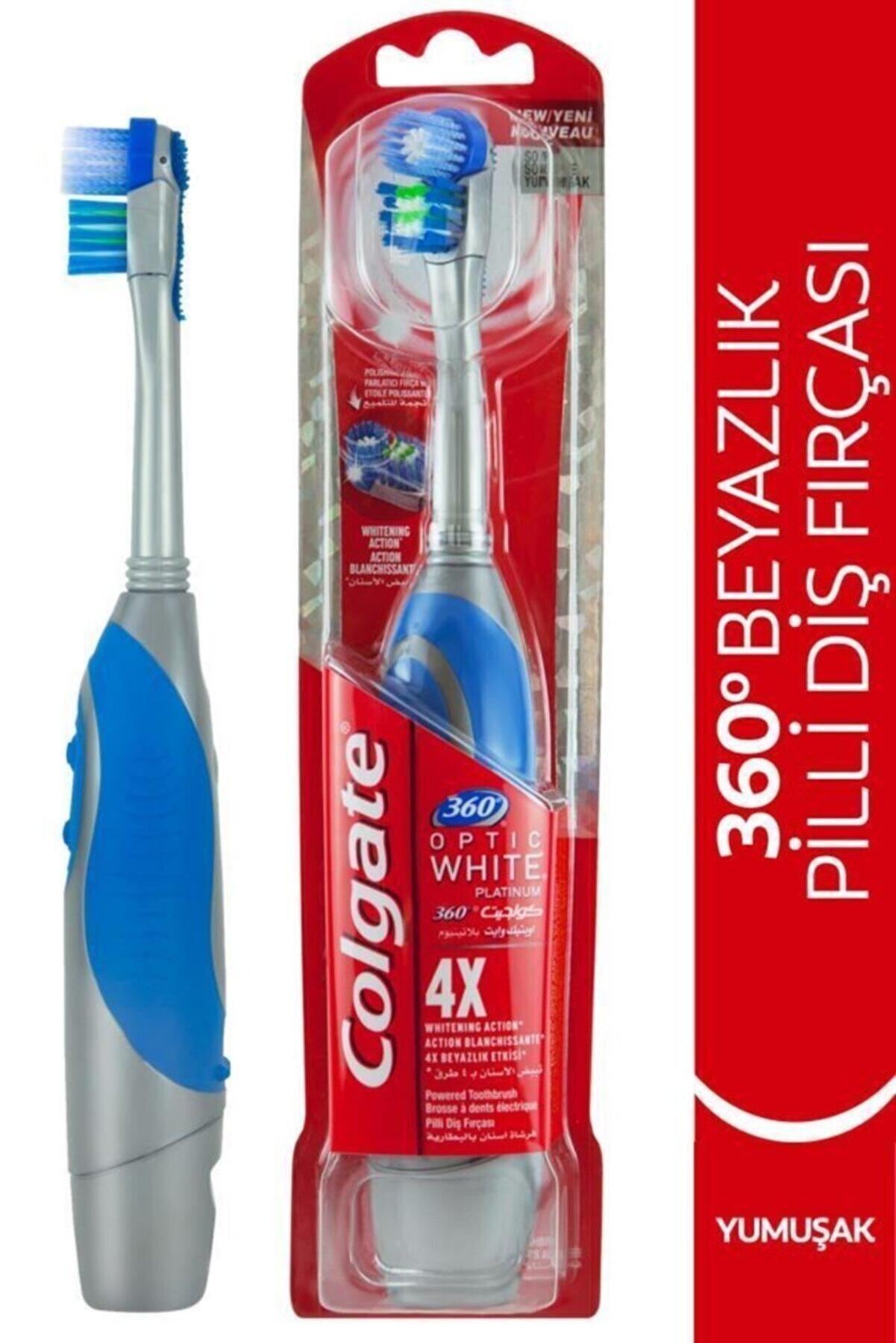 Colgate 360 Pilli Optik Beyaz Platinum Beyazlatıcı Yumuşak Diş Fırçası