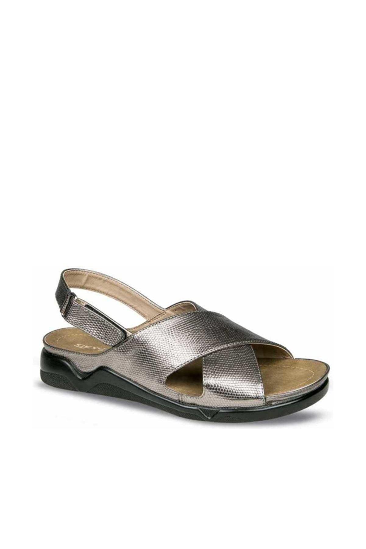 Ceyo Platin Kadın Sandalet 01455