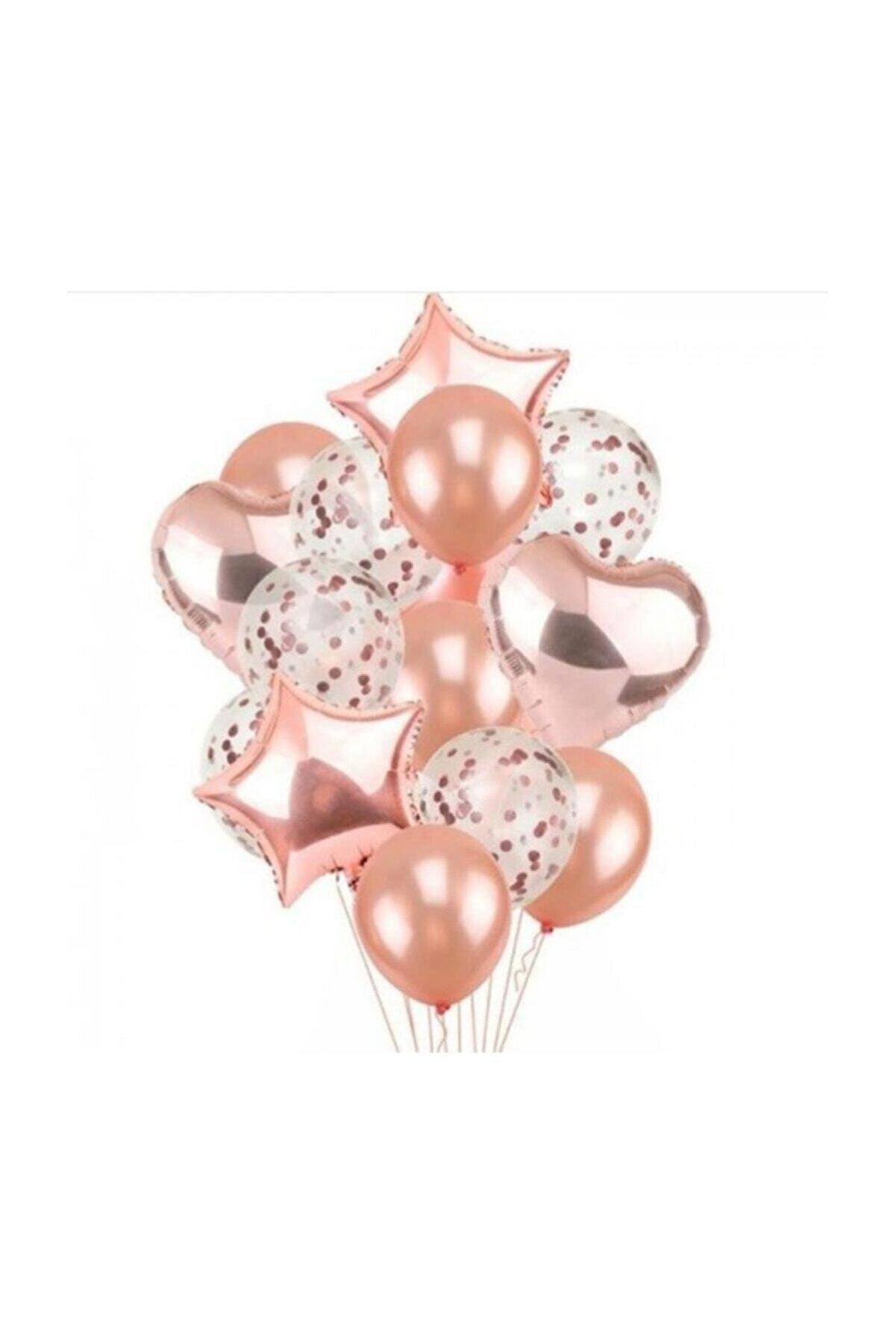 BalonEvi Rose Gold Balon Seti