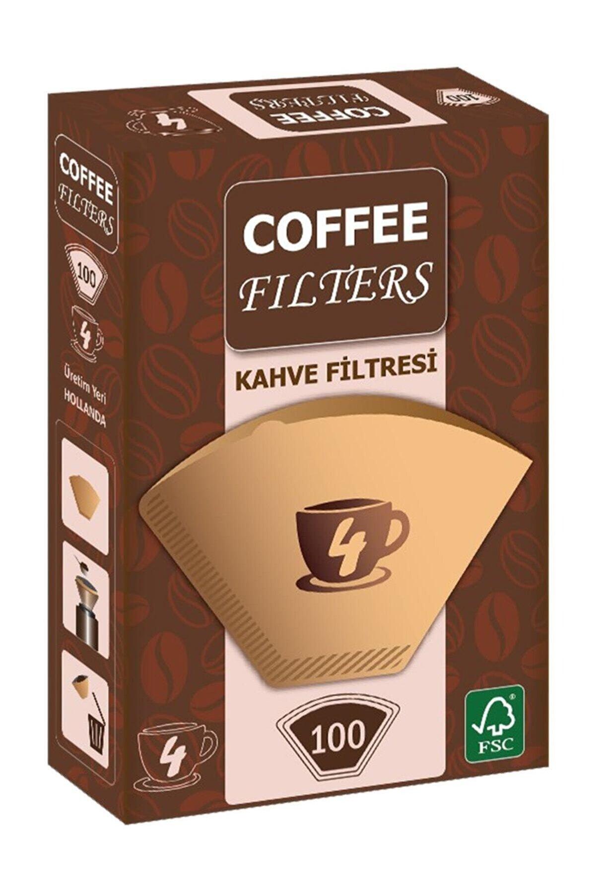 Universal Coffee Filters Filtre Kahve Kağıdı 1/4 4 Numara 100'lü Paket