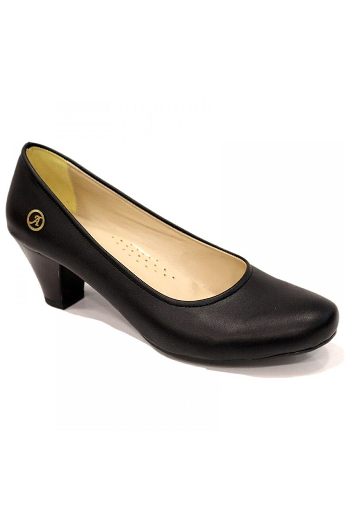 Salsa Kadın Siyah Günlük Ortapedik  Topuklu Ayakkabı