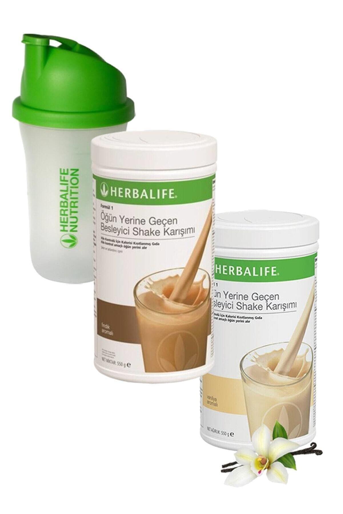 Herbalife Formül 1 Shake Karışım Seti Vanilya + Fındık 550 gr + Shaker