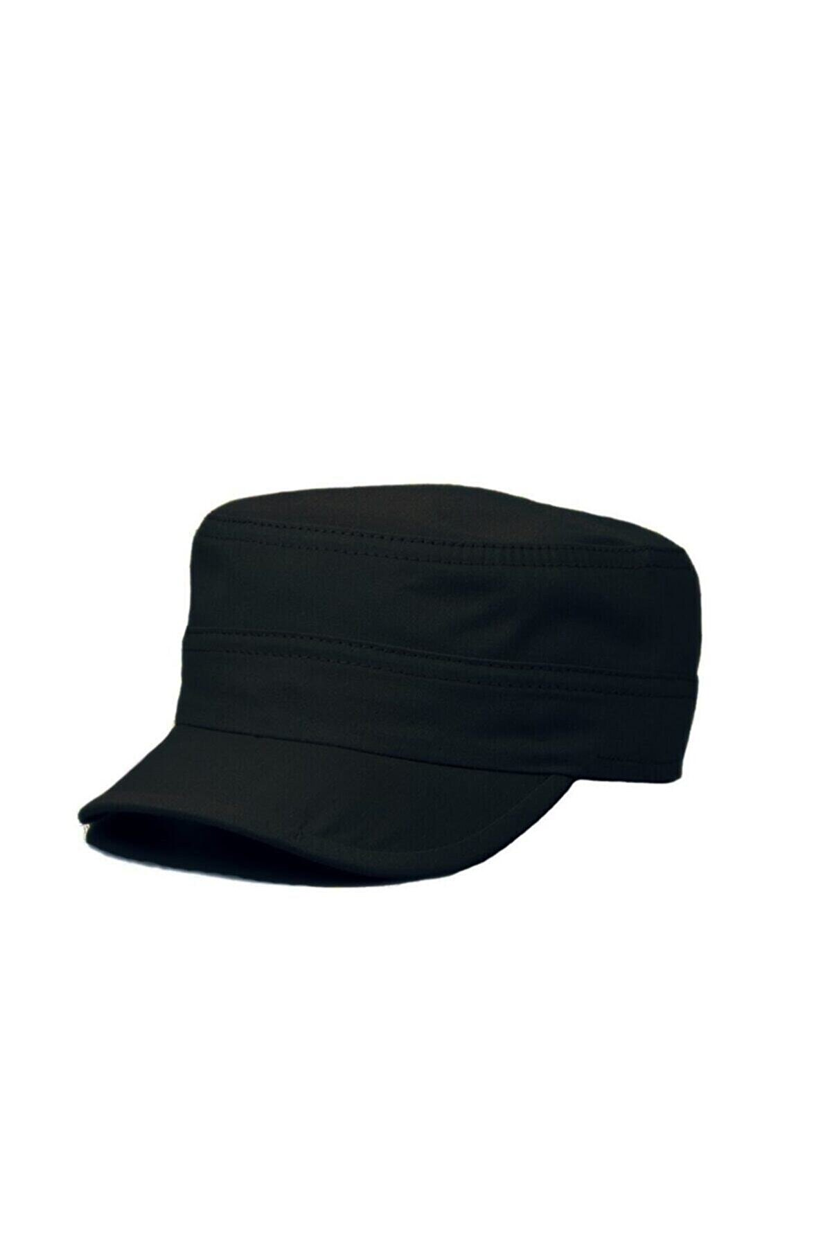 ERASTORE Siyah Castro Askeri Model Cap Şapka
