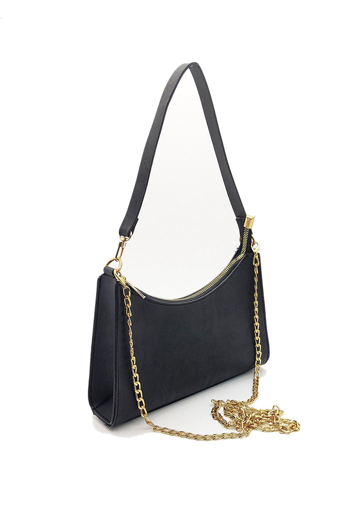 Rimense Kadın Siyah Elde Ve Omuzda Baget Çanta