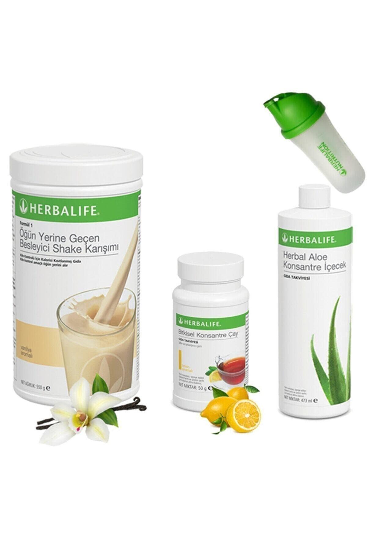 Herbalife 3'lü Set Shake + Çay + Aloe ( Shaker & Beslenme Programı Hediye )