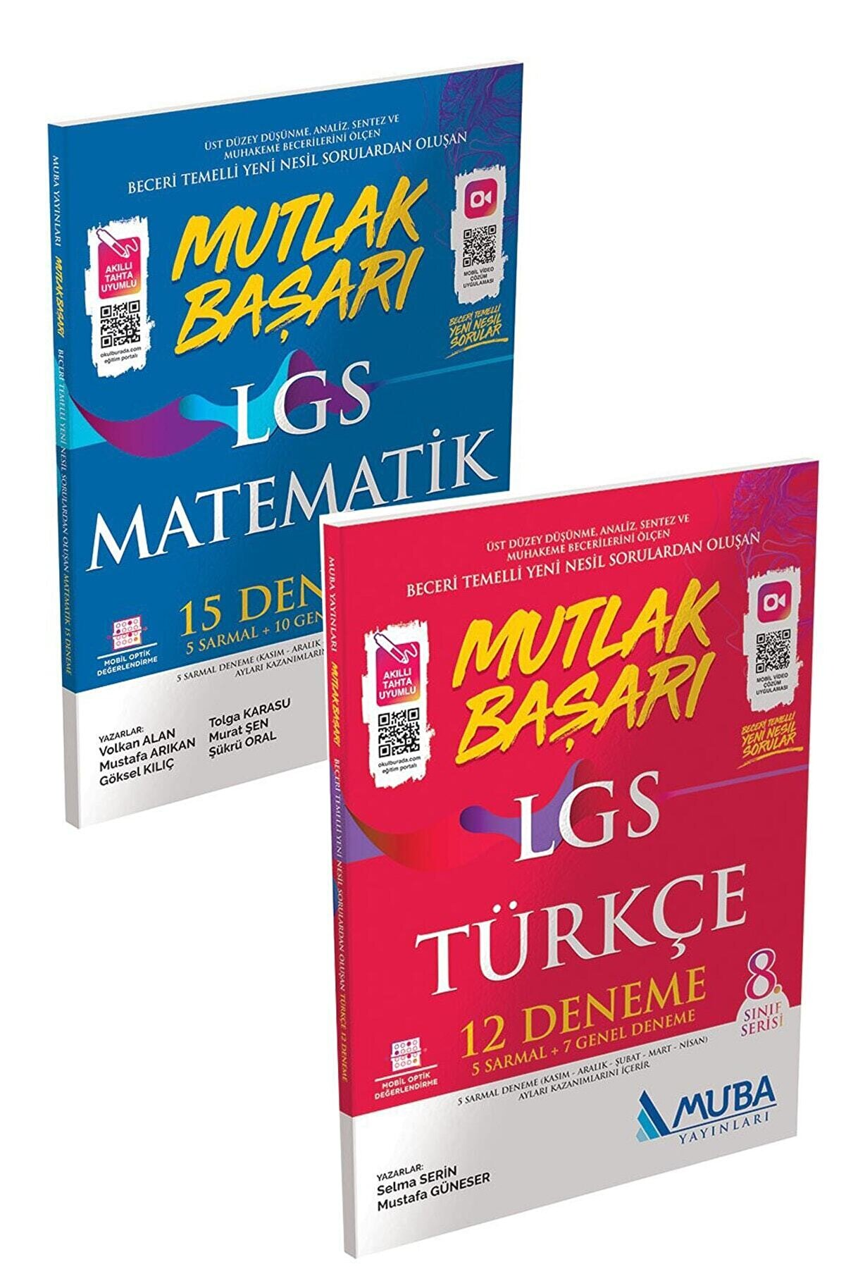 Muba Yayınları Mutlak Başarı Lgs Matematik 15 Deneme + Lgs Türkçe 12 Deneme