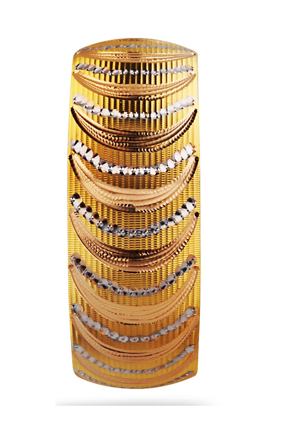 Harem Altın Kadın 22 Ayar Şarnelli 40 gr Bilezik - BLK1023