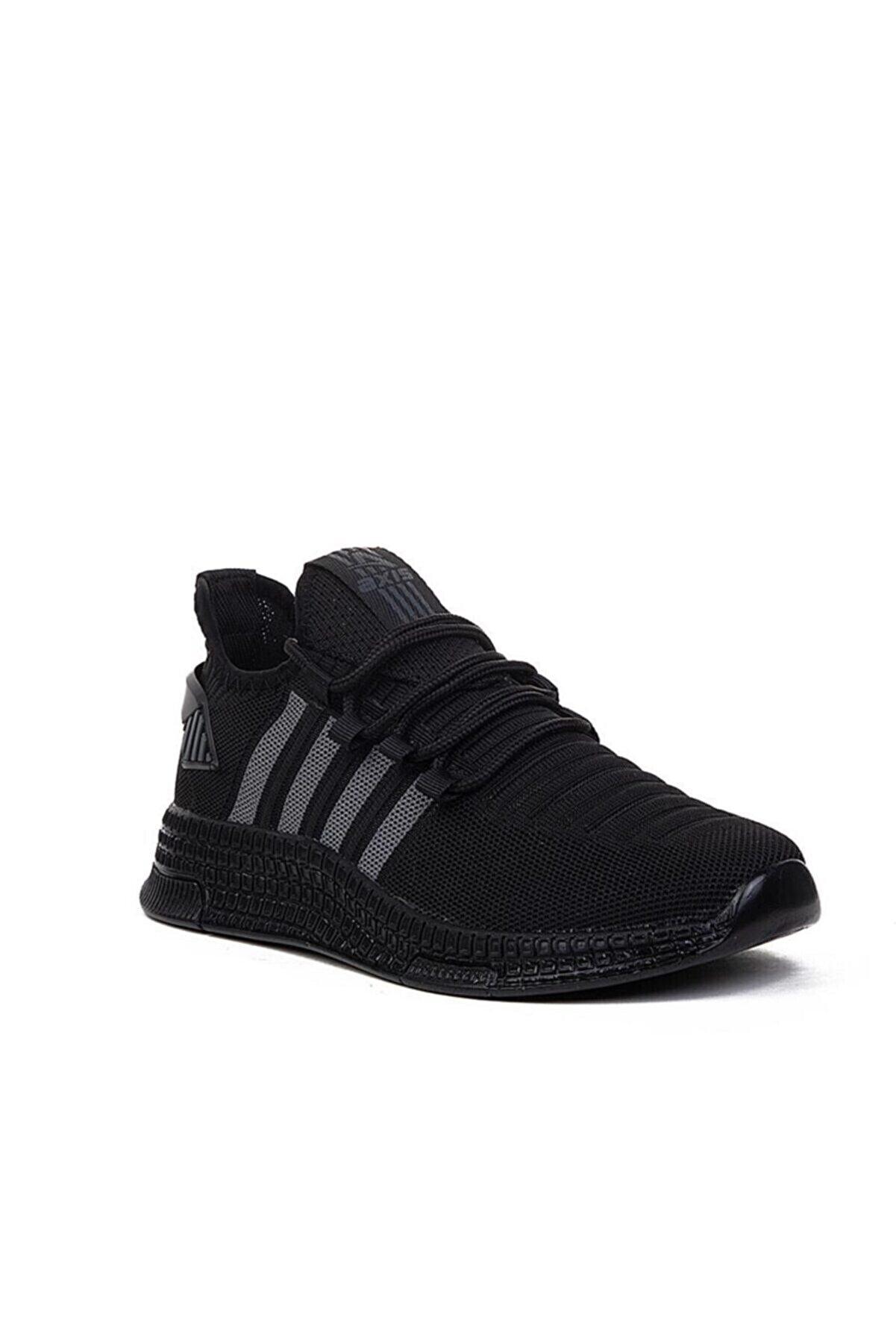 AlbiShoes Unisex Siyah Triko Hafif Spor Ayakkabı