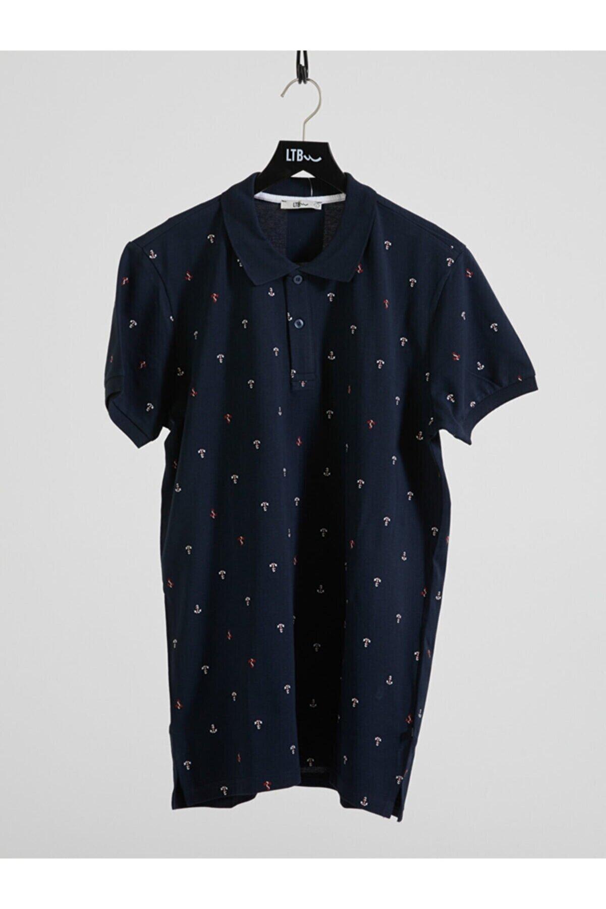 Ltb Erkek  Lacivert Polo Yaka T-Shirt 012208435060890000