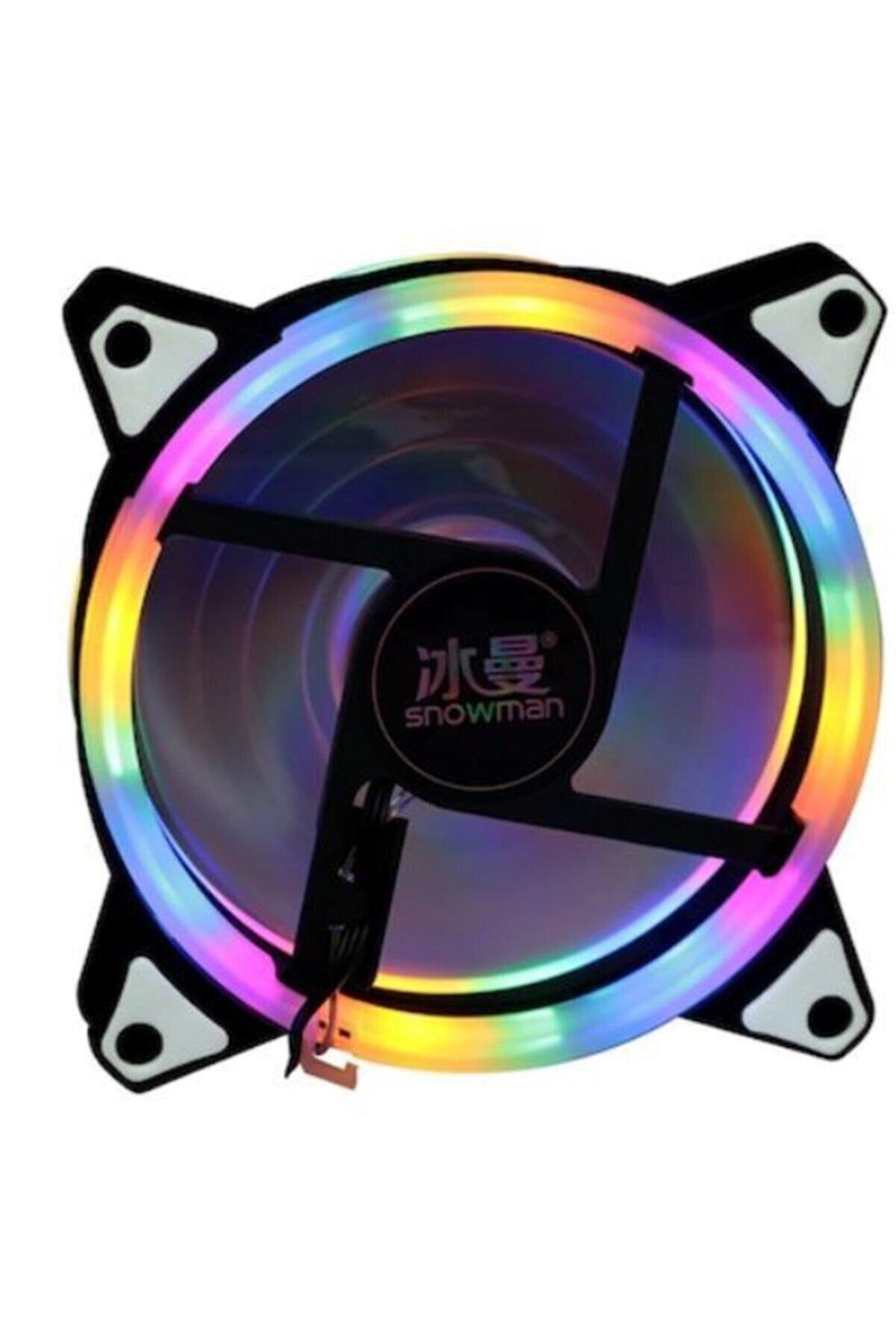 BTS Teknoloji Snowman 12cm Rgb 3 Renk Rainbow Kasa Geniş Fan