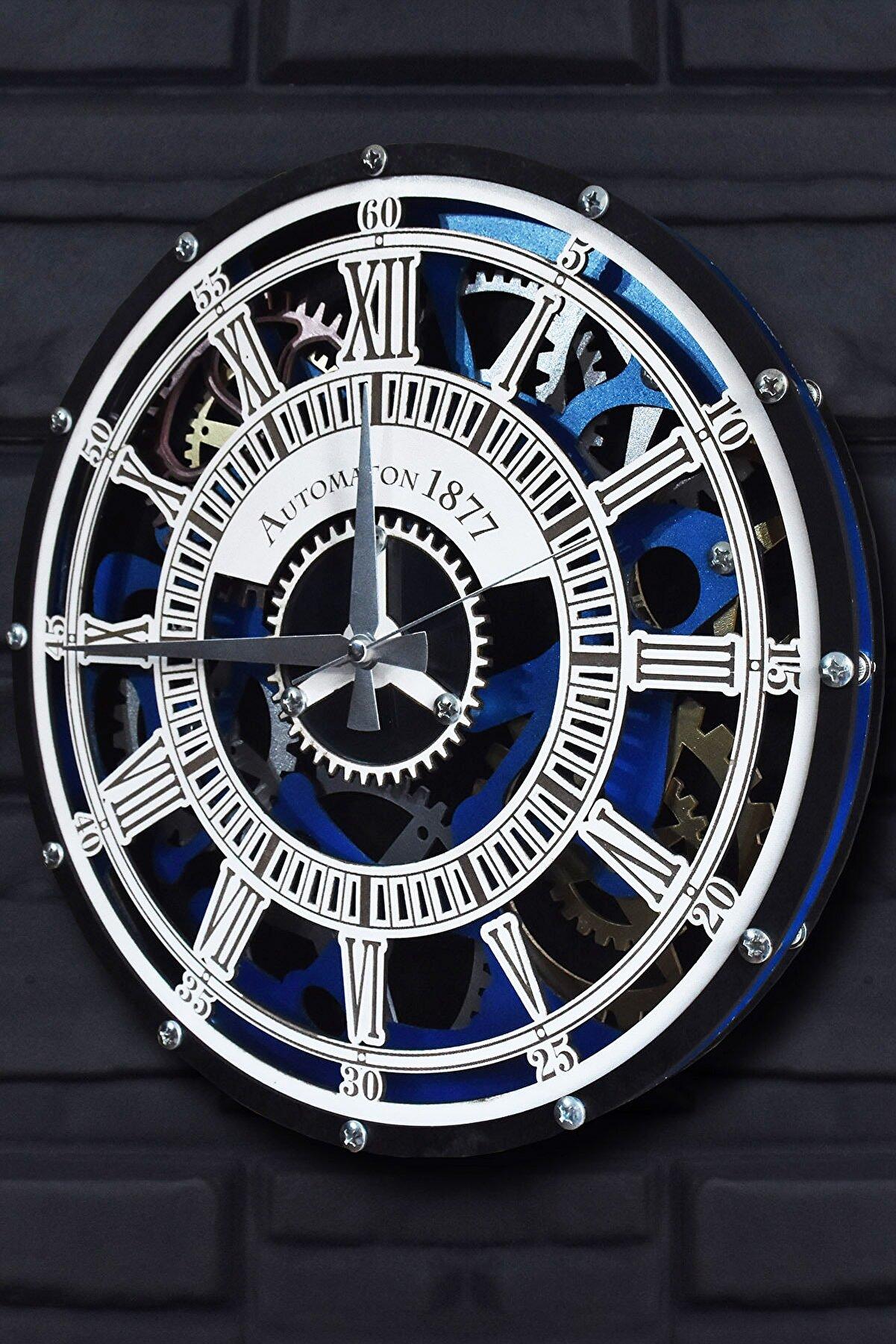 Seka Online Seka Lab Roma Rakkamlı Dekoratif Duvar Saati 40x40