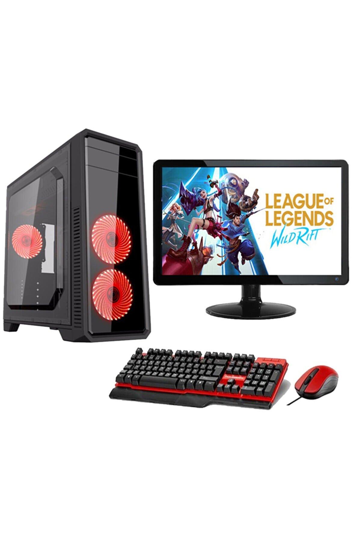 """WARBOX I5 750 4gb Ram 120gb Ssd 500gb Hdd R5 230 2gb Ekran Kartı 18.5"""" Monitör Gaming Bilgisayar"""