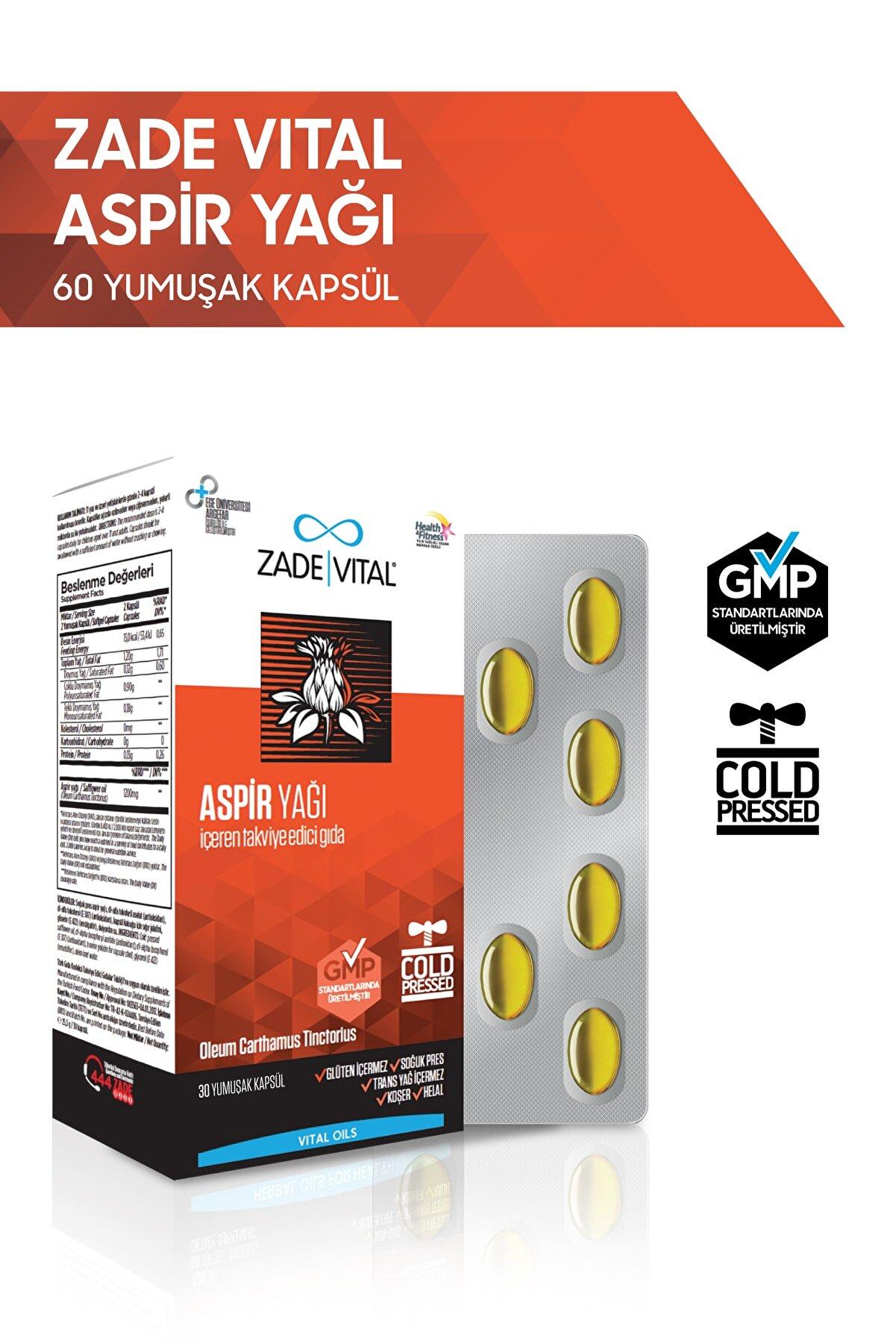 Zade Vital Aspir Yağı Blister 60 Kapsül