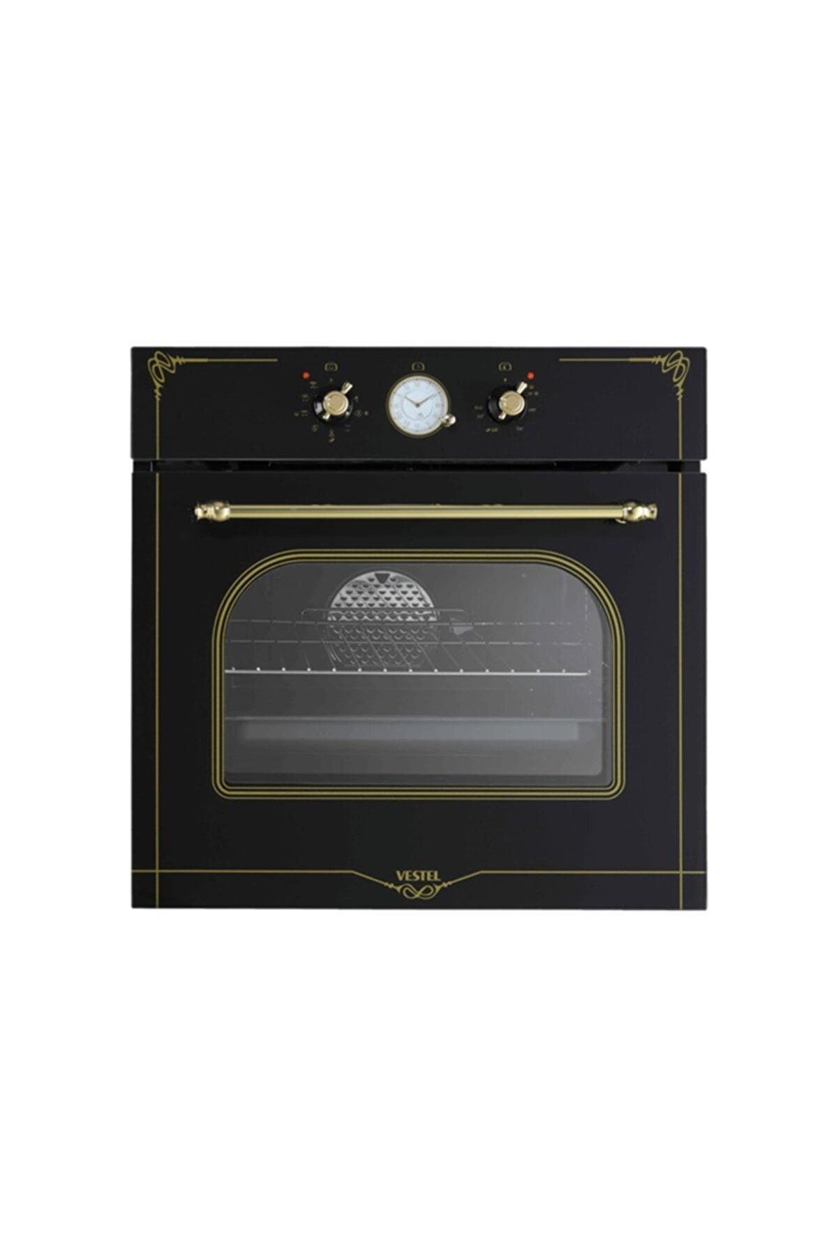 VESTEL AFRB-7688 Rustik Siyah Ankastre Fırın