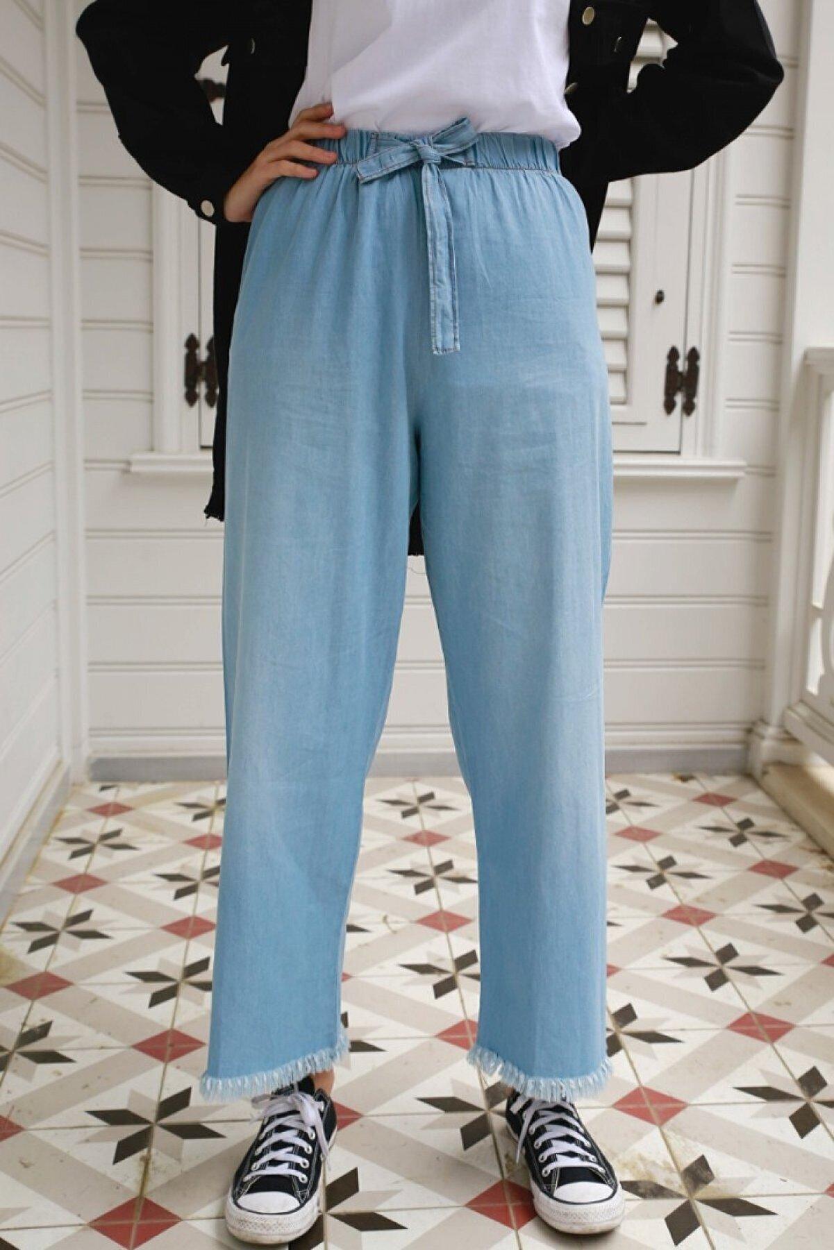 Gizce Evria Mavi Kot Pantolon