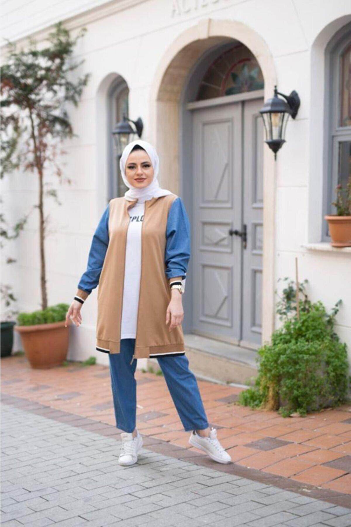 Camelya Fashion Kot Detay 3lü Takım