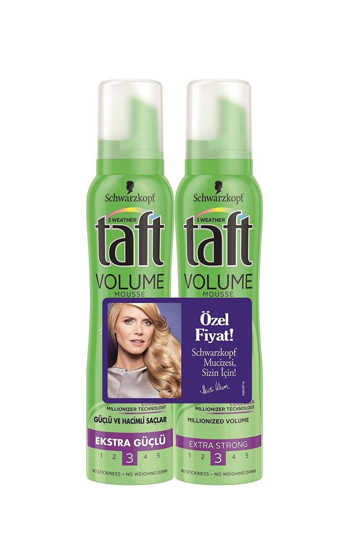 Taft 2'li Volume Mousse Hacim Sağlayan Şekillendirici Saç Köpüğü 150 ml