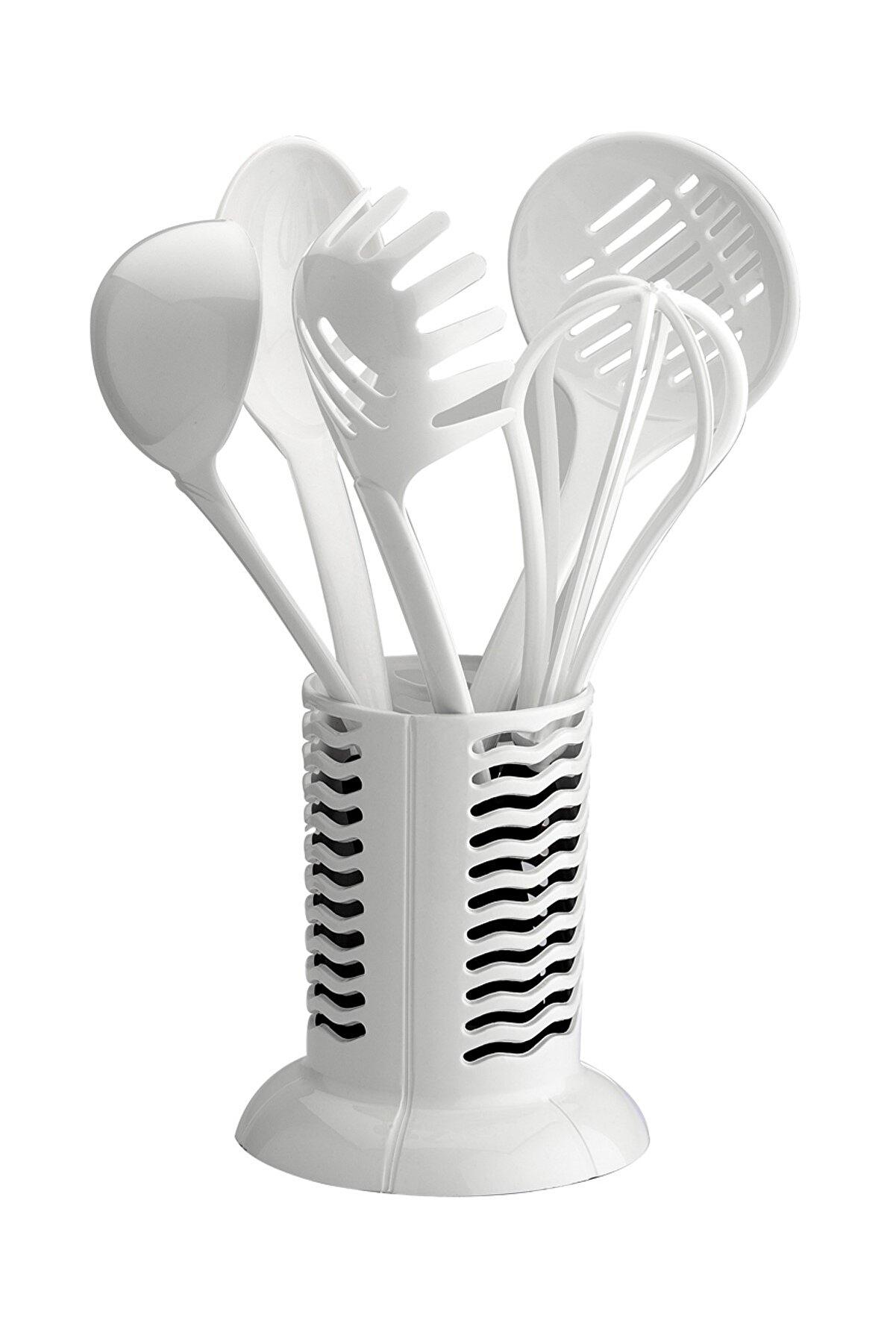 Schafer Plastik Kepçe Takımı-Beyaz -B
