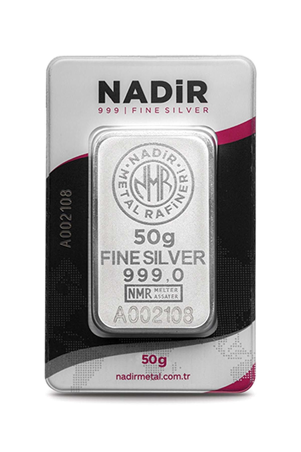 Nadir Gold 24 Ayar 50 Gr Gümüş Külçe
